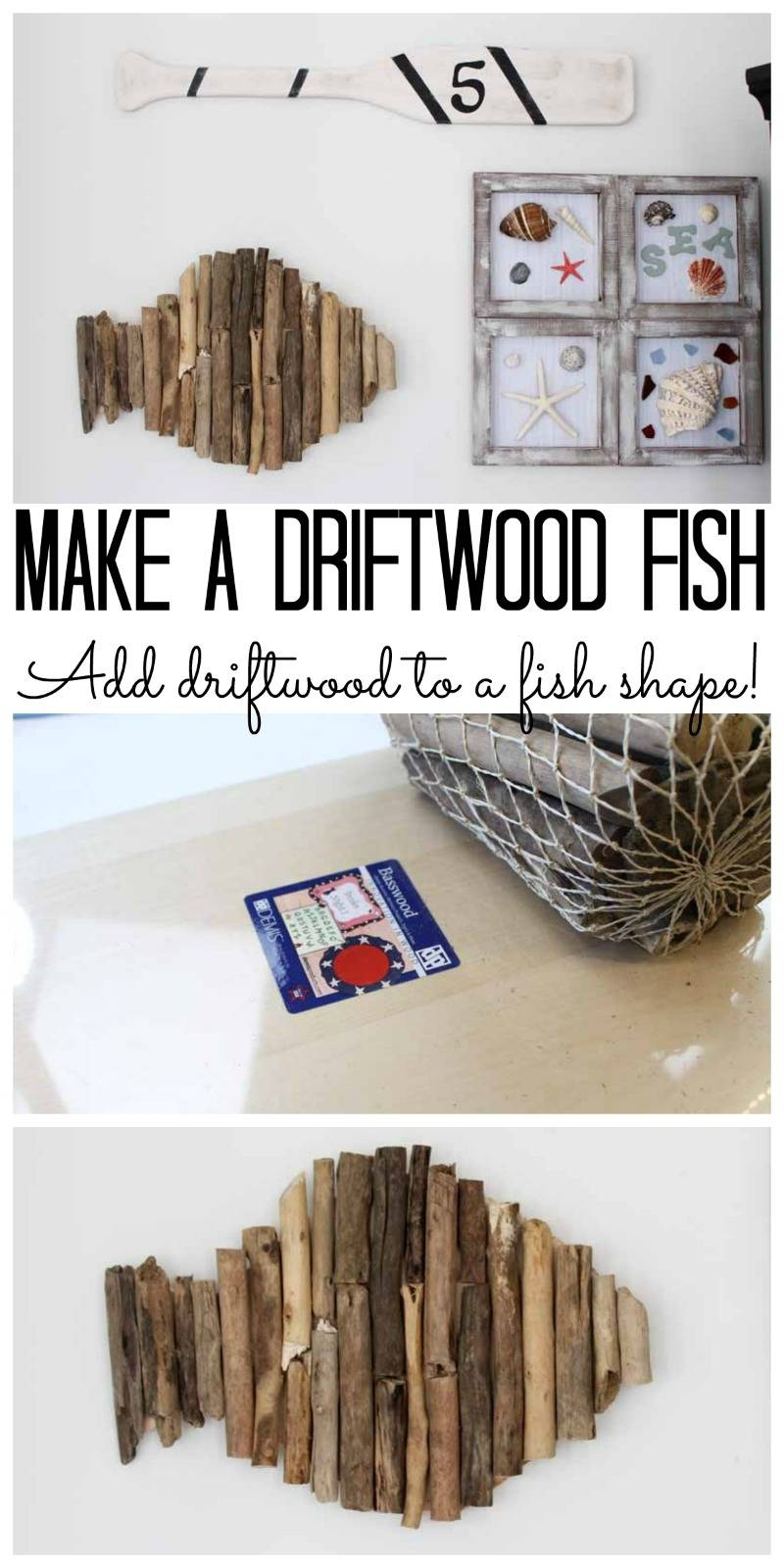 Driftwood Wall Art: Beach Home Decor – The Country Chic Cottage For Most Current Driftwood Wall Art (View 17 of 30)