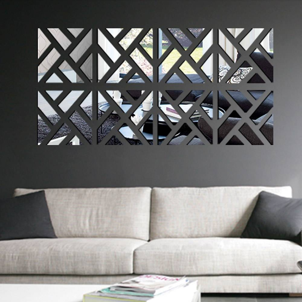 ? Decor : 13 Art3D Blog 3D Leather Tiles In Living Room Wall Throughout Most Popular Diy 3D Wall Art Decor (View 4 of 20)