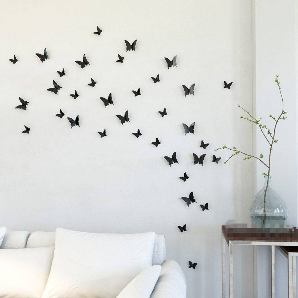 ? Decor : 14 Butterfly Wall Decor 3D Butterfly Wall Decor On Regarding Best And Newest 3D Butterfly Wall Art (View 7 of 20)