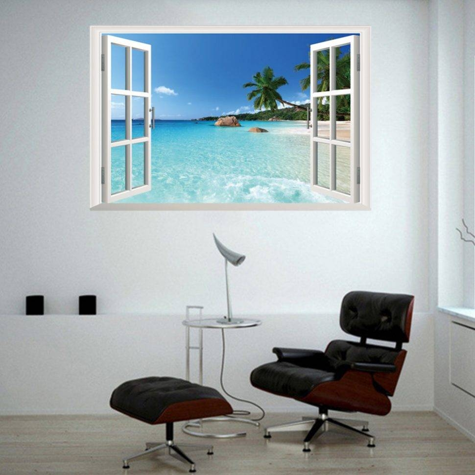 ? Decor : 57 Modern Font B Style B Font 3D Window View Wall Intended For Most Recently Released Contemporary 3D Wall Art (View 6 of 20)
