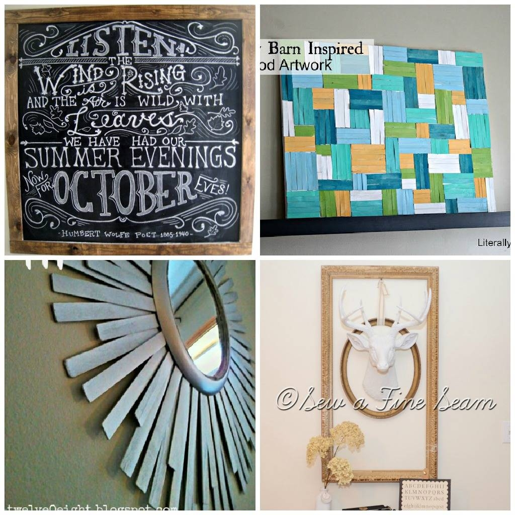? Decor : 85 Cheap Wall Decor Ideas Diy Wall Decor 1000 Images With Most Recent Cheap Wall Art And Decor (View 2 of 20)