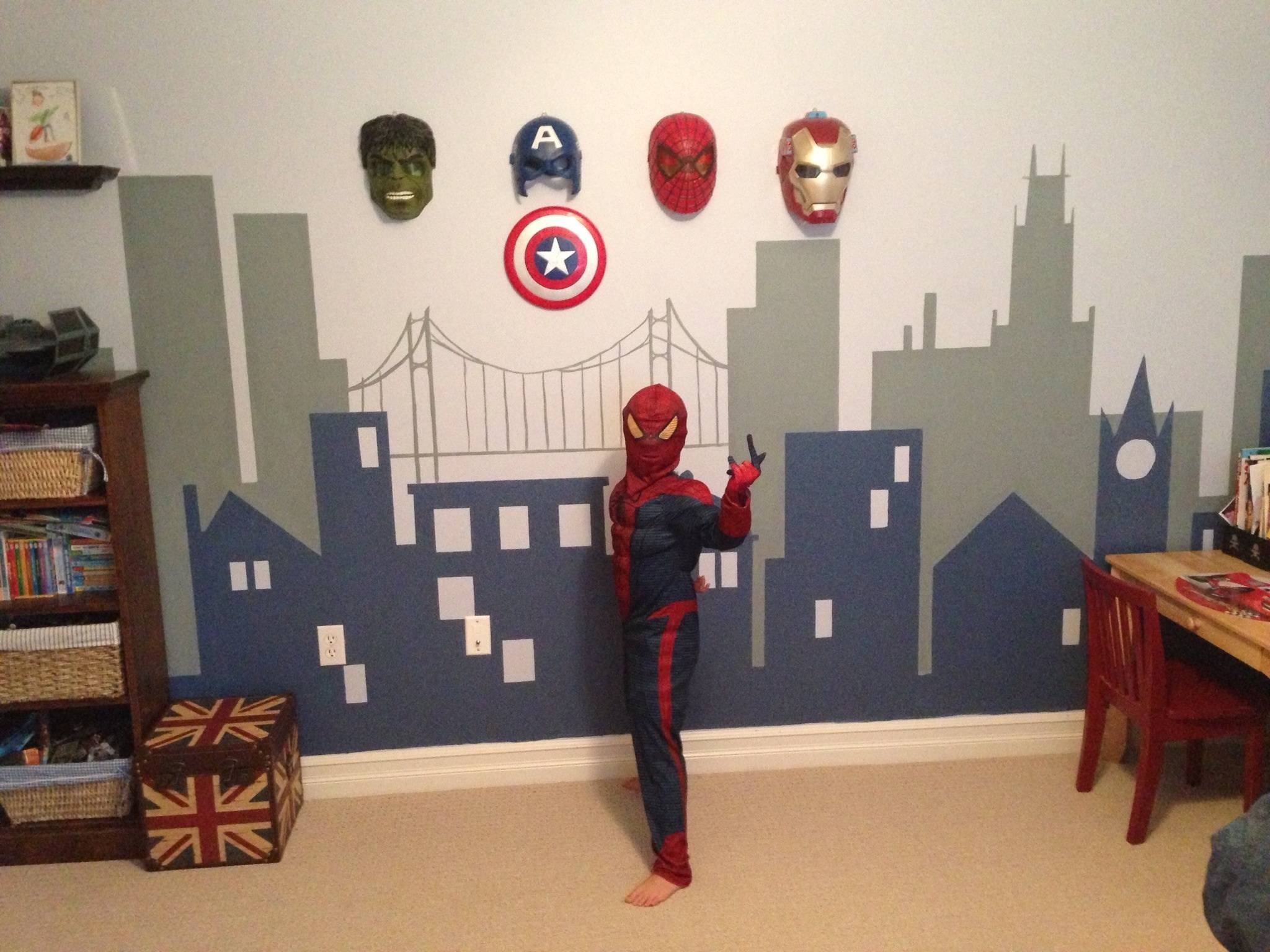 Superieur Kids Room : Wonderful Kids Room Wall Decor Ideas Inspiration With Regard To  2018 Superhero