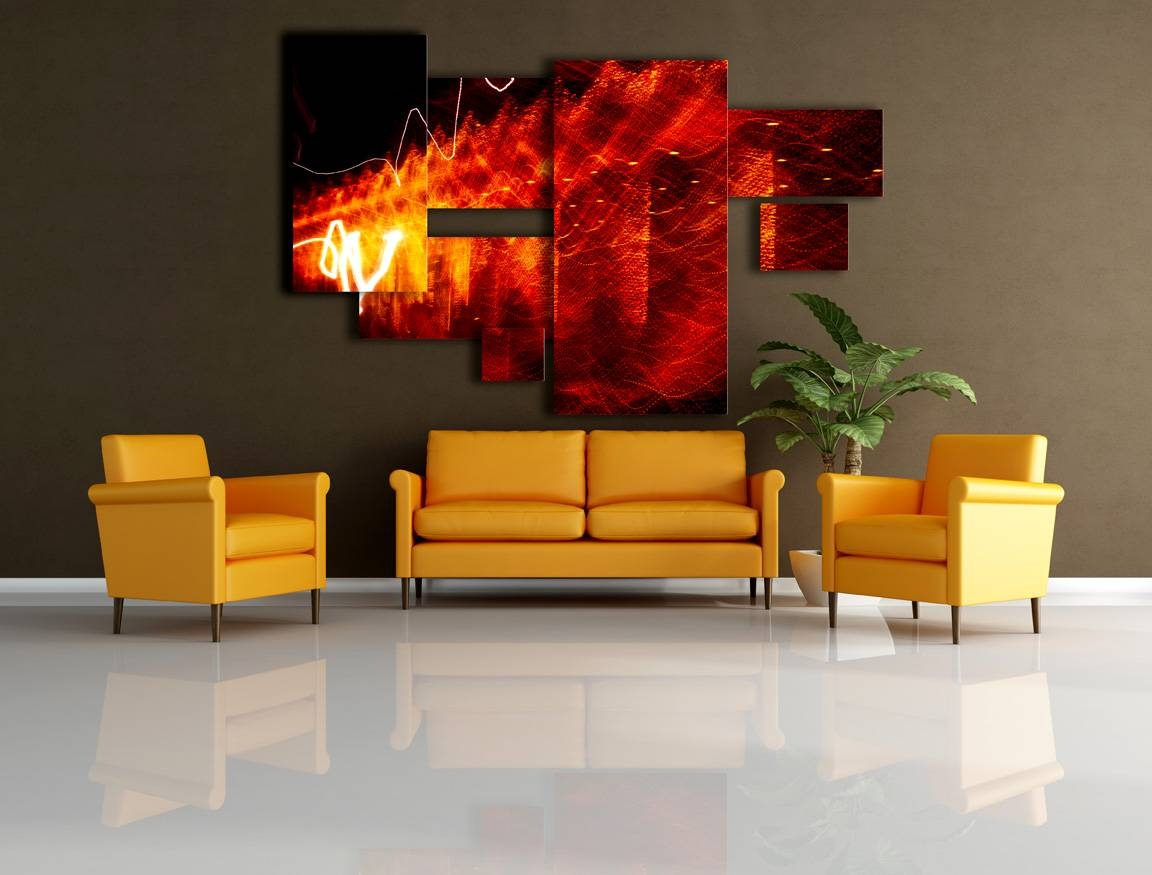 Easy Large Wall Decor Ideas | Jeffsbakery Basement & Mattress Regarding Current Red And Yellow Wall Art (View 13 of 20)