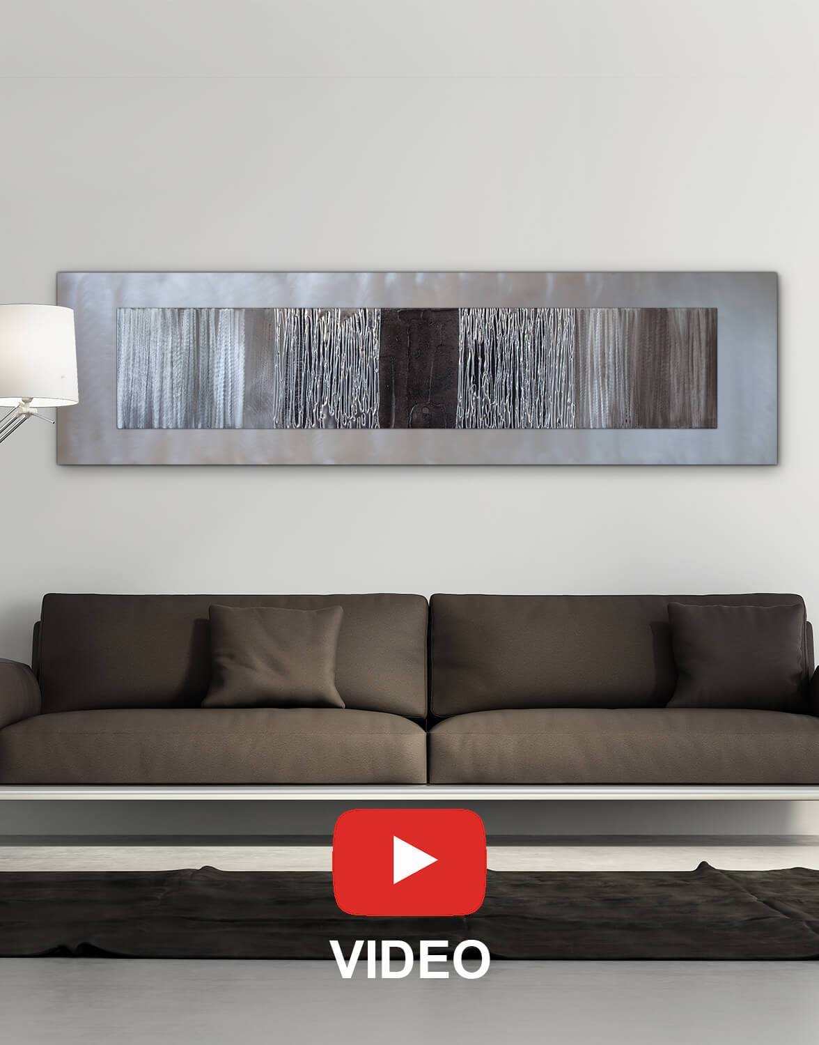 Echo Black – Silver Wall Art, Contemporary Art Uk In Most Current Black Silver Wall Art (View 5 of 20)
