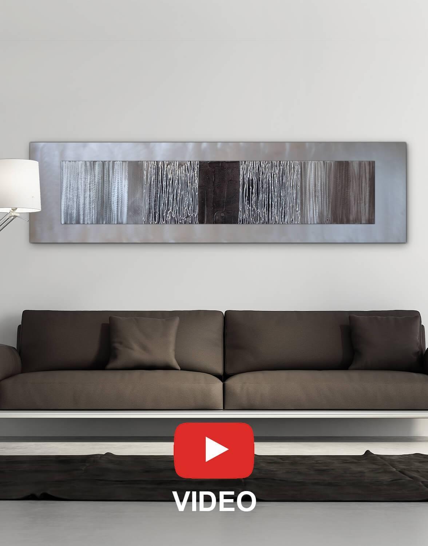 Echo Black – Silver Wall Art, Contemporary Art Uk In Most Current Black Silver Wall Art (Gallery 19 of 20)