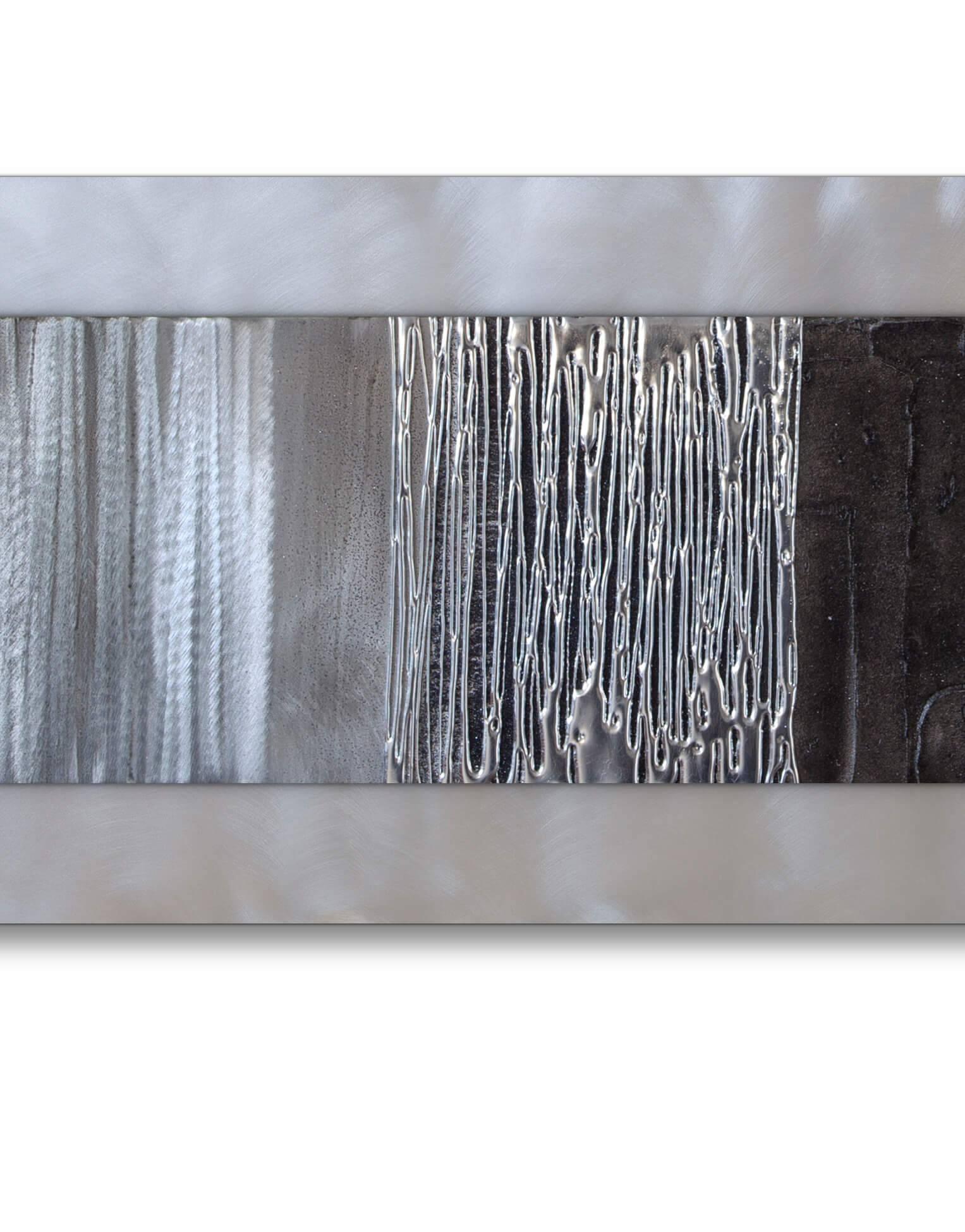 Echo Black – Silver Wall Art, Contemporary Art Uk Within Best And Newest Uk Contemporary Wall Art (View 9 of 20)