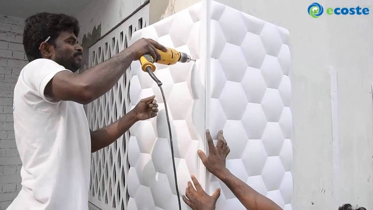 Ecoste Clad Ex 3D Wall Panels Installation. – Youtube In 2017 Painting 3D Wall Panels (Gallery 15 of 20)