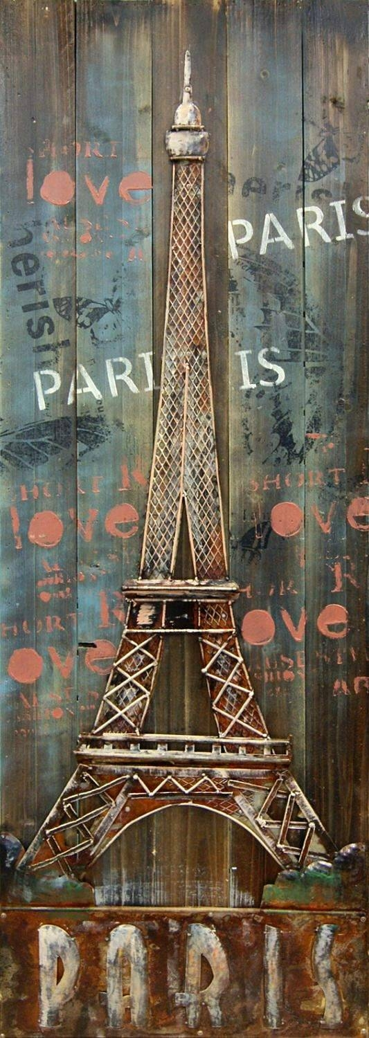 Eiffel Tower 3d Metal Wall Art Regarding Most Recent Metal Eiffel Tower Wall Art (View 4 of 30)