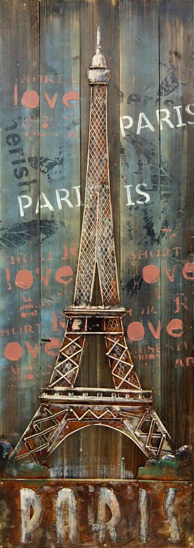 Eiffel Tower 3D Metal Wall Art Regarding Most Recent Metal Eiffel Tower Wall Art (View 9 of 30)