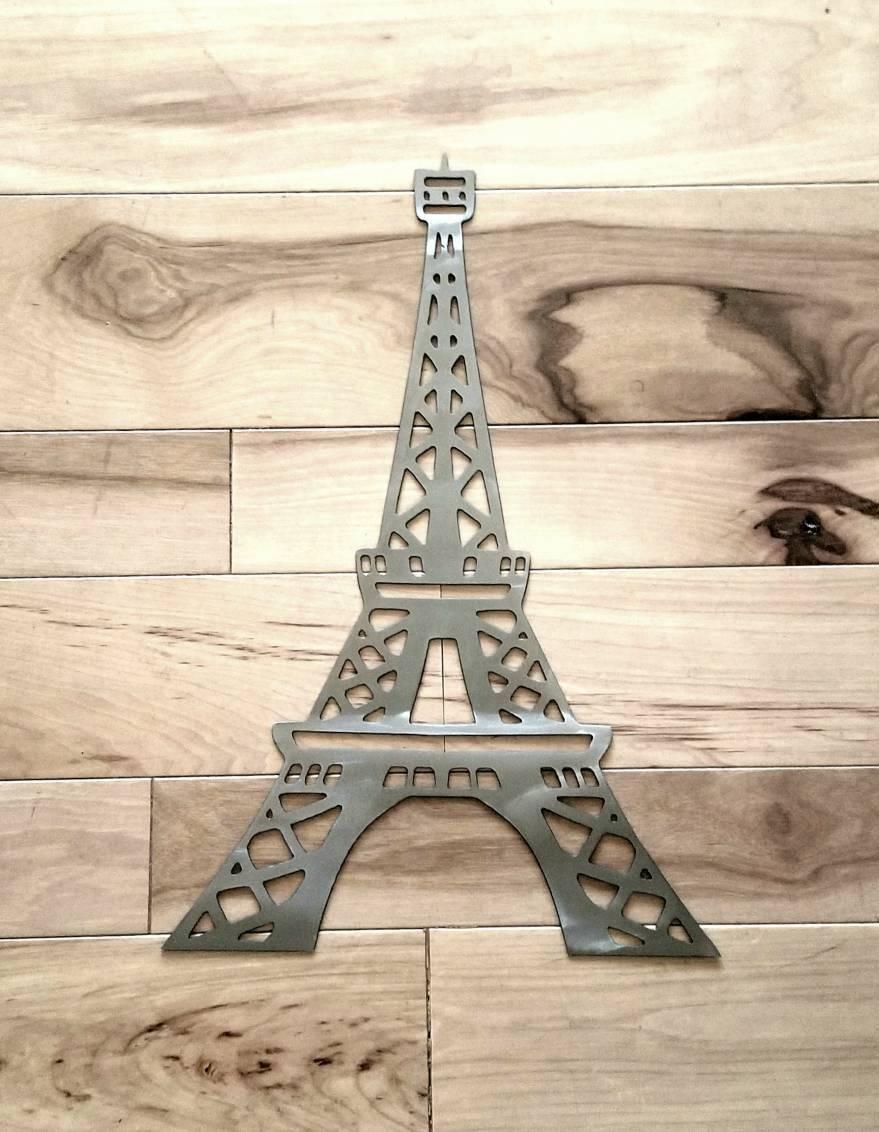 Eiffel Tower Metal Wall Art/paris Decor/eiffel Tower Decor/paris Regarding 2018 Metal Eiffel Tower Wall Art (View 25 of 30)