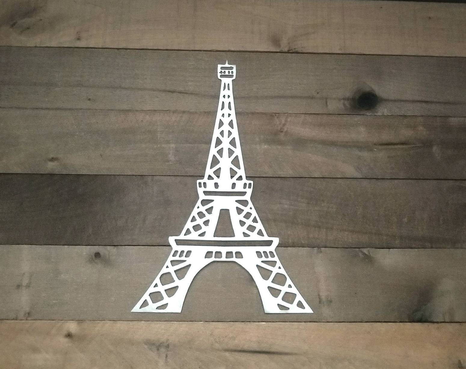 Eiffel Tower Metal Wall Art/paris Decor/eiffel Tower Within Current Metal Eiffel Tower Wall Art (View 6 of 30)