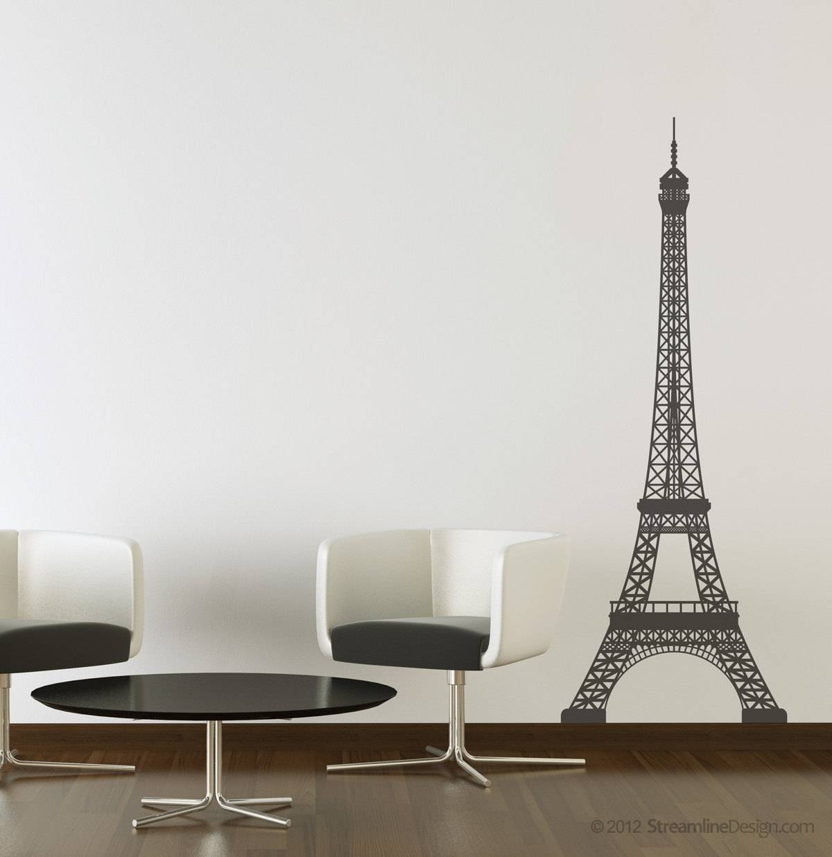 Eiffel Tower Vinyl Wall Art Decoration 5 Feet Tall France Within Most Recent Eiffel Tower Wall Art (View 3 of 20)