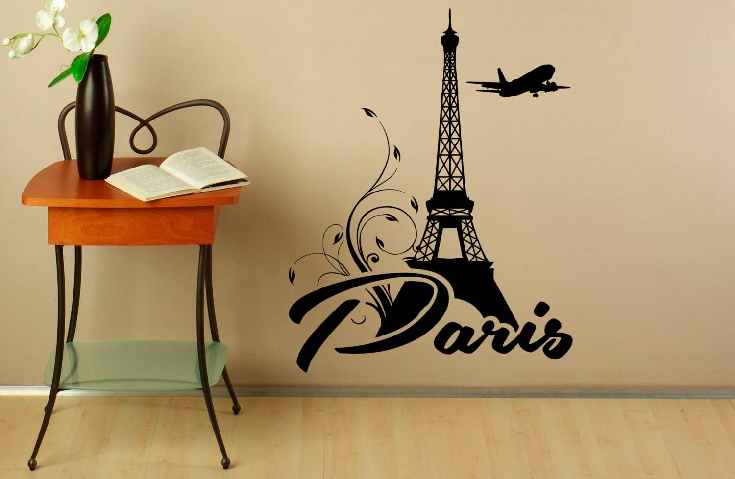 Eiffel Tower Wall Decal Vinyl Stickers Paris Symbol Home Pertaining To Most Recent Eiffel Tower Wall Hanging Art (Gallery 5 of 20)