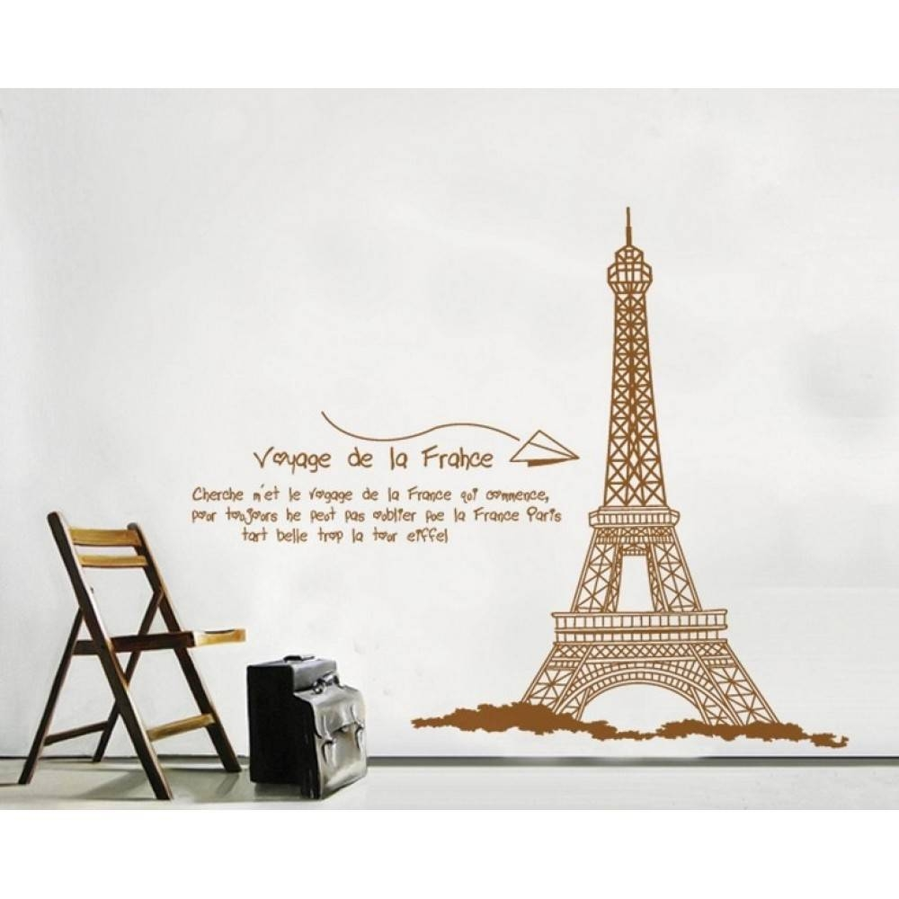 Eiffel Tower Wall Decal | Wallstickerscool (View 12 of 20)
