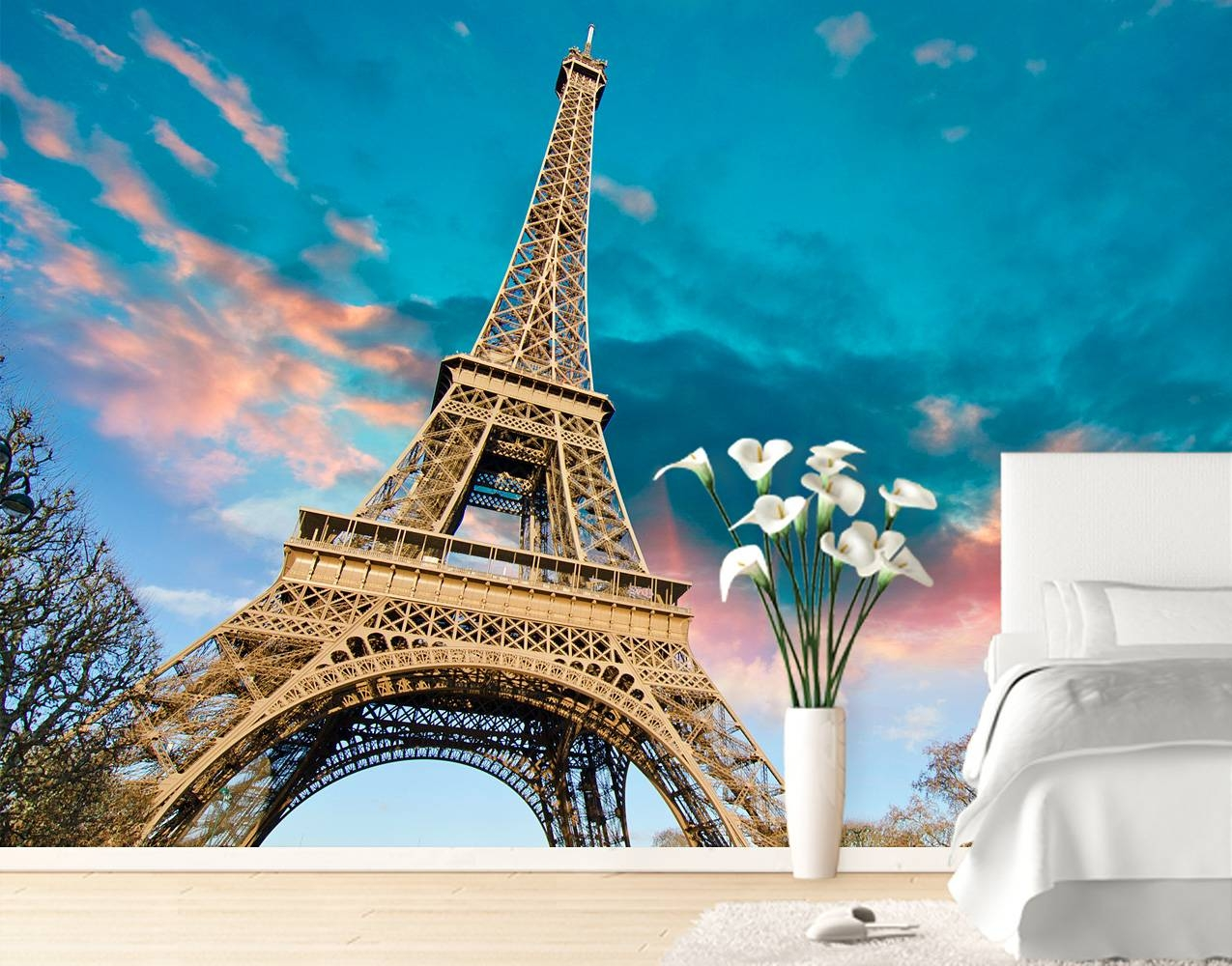 Eiffel Tower Wall Mural – Your Decal Shop | Nz Designer Wall Art For Latest Eiffel Tower Wall Art (View 2 of 20)