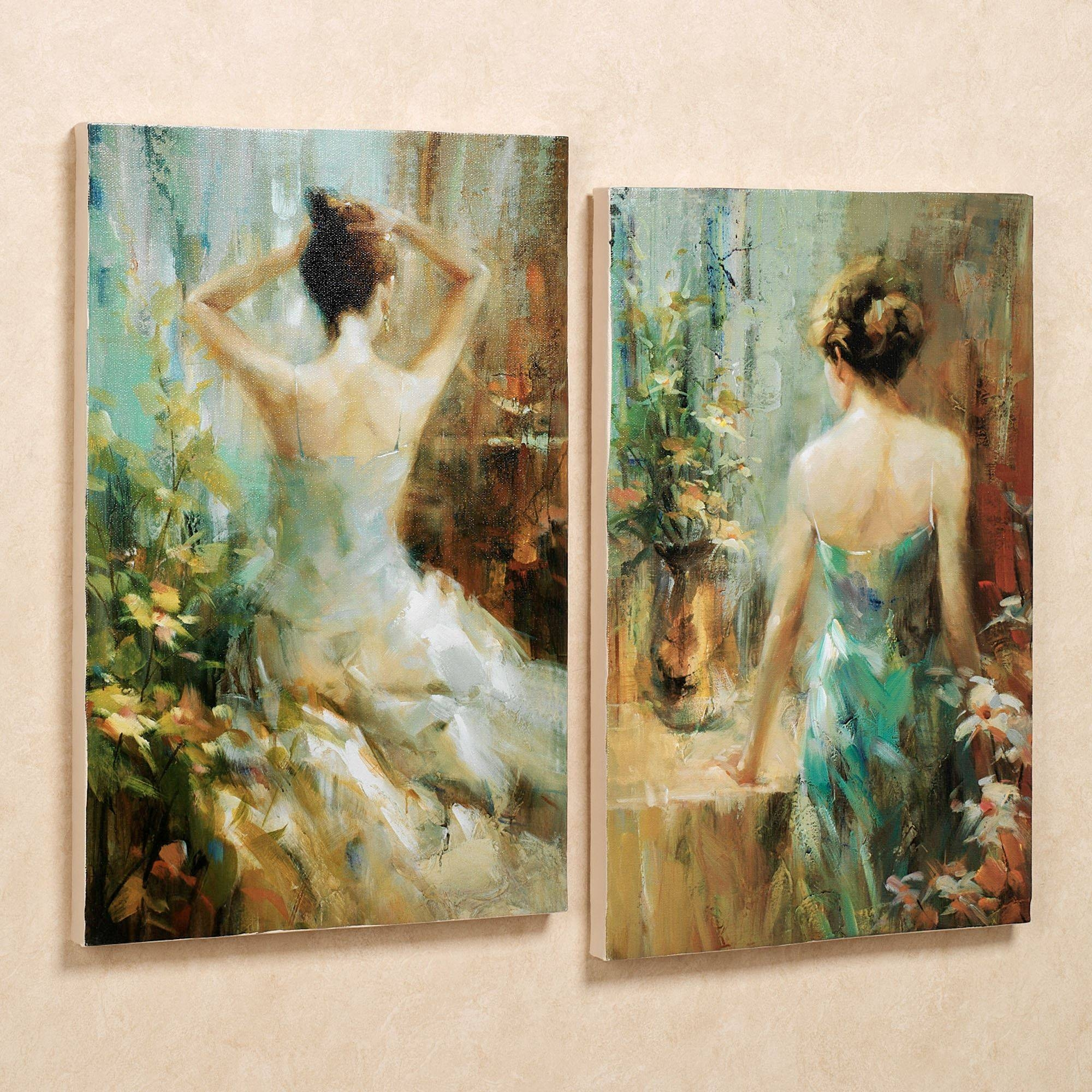 Elegant Ladies Canvas Wall Art Set Within Most Recently Released Multi Canvas Wall Art (Gallery 13 of 20)