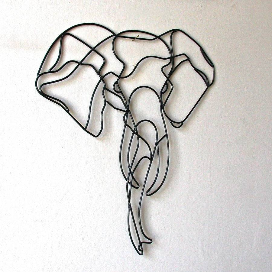Elephant Wall Art | Roselawnlutheran For Most Up To Date Wire Wall Art Decors (View 20 of 25)