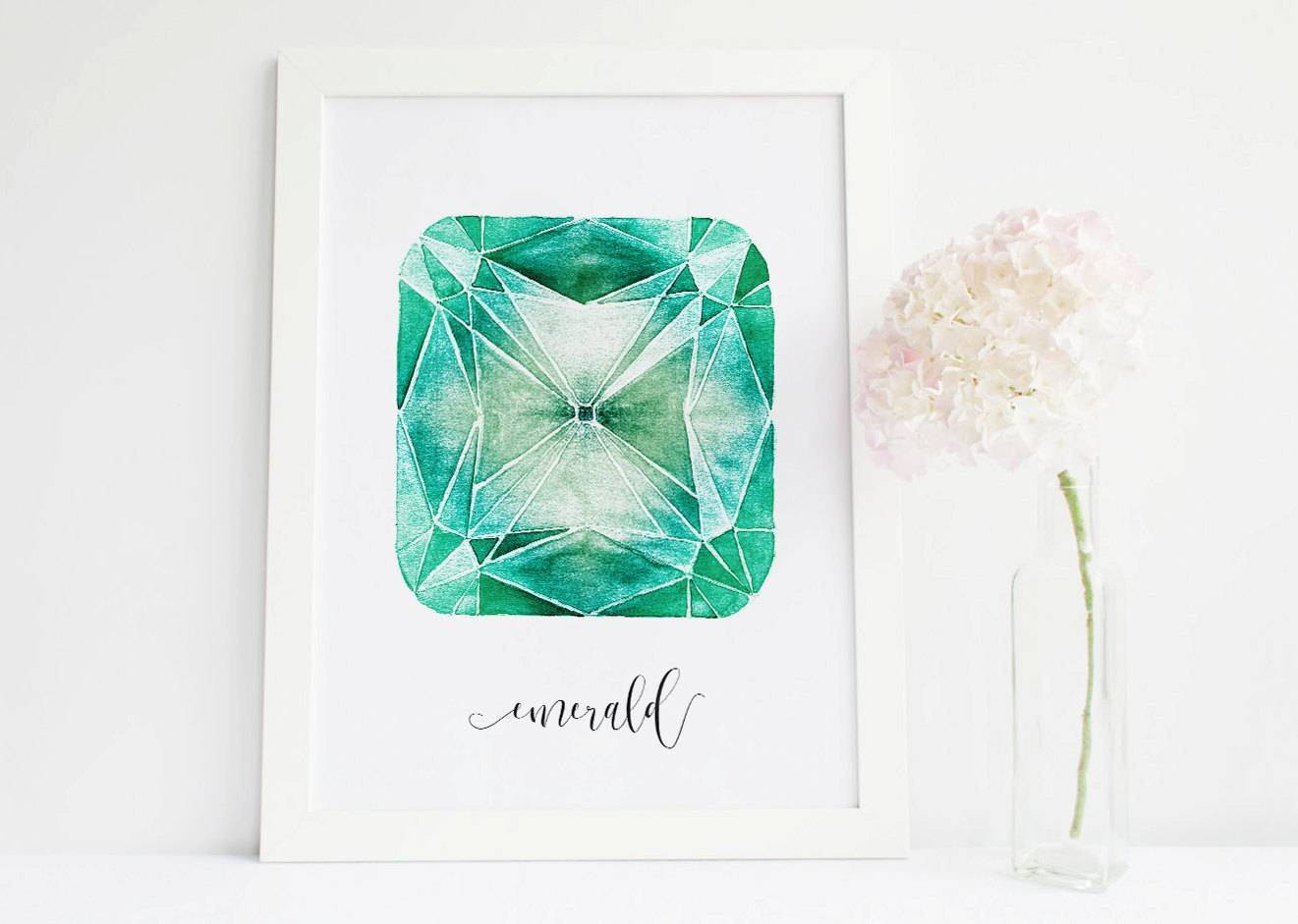 Emerald Crystal Emerald Stone Art Gemstone Decor Crystals And For Best And Newest Gemstone Wall Art (View 8 of 31)