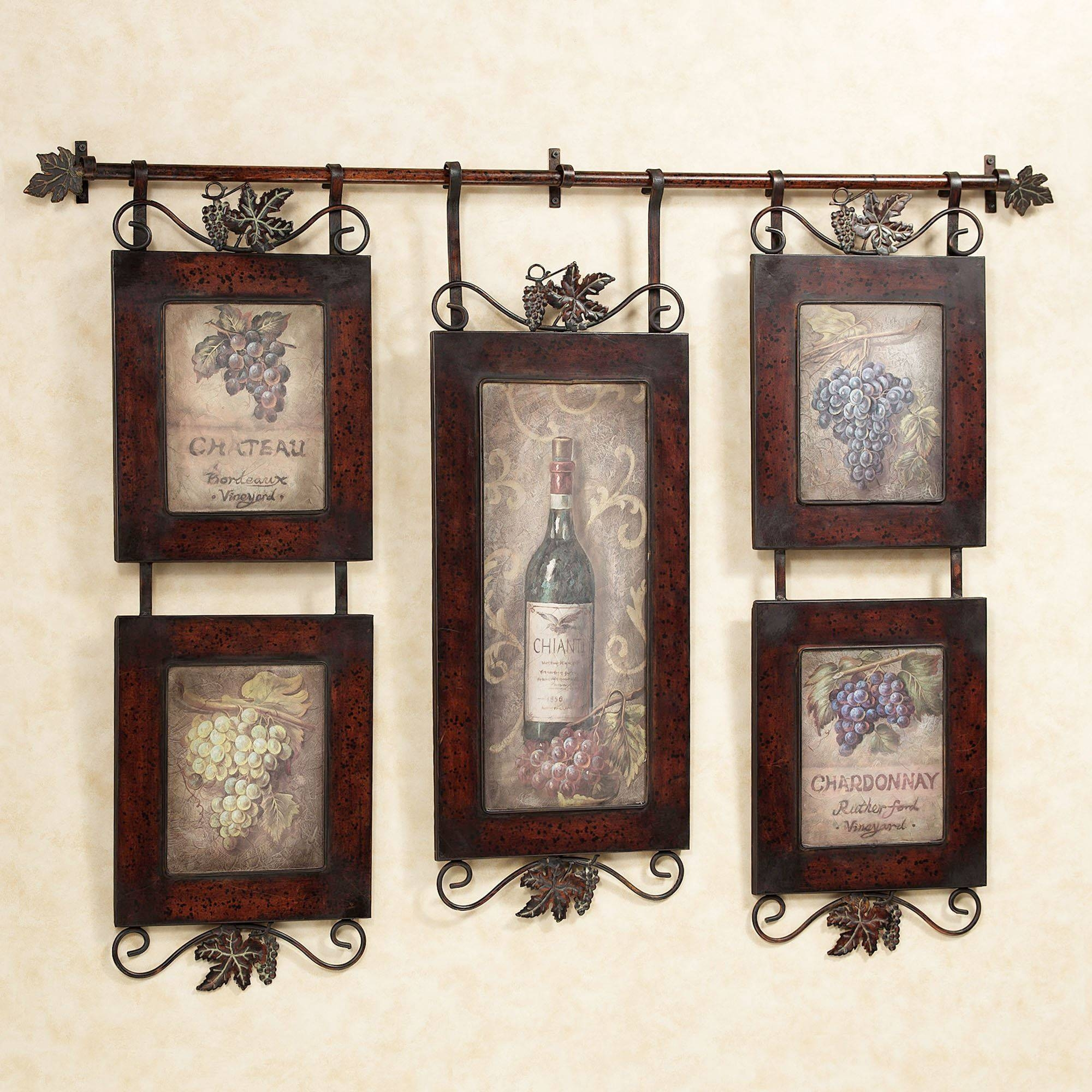 Emilion Wine Wall Art Within 2017 Country Metal Wall Art (View 11 of 30)