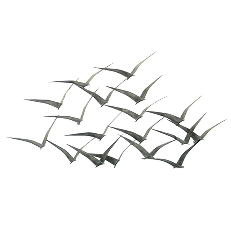 Enchanting Outdoor Metal Wall Art Birds Great Blue Heron Metal In Most Current Flock Of Birds Metal Wall Art (View 9 of 30)