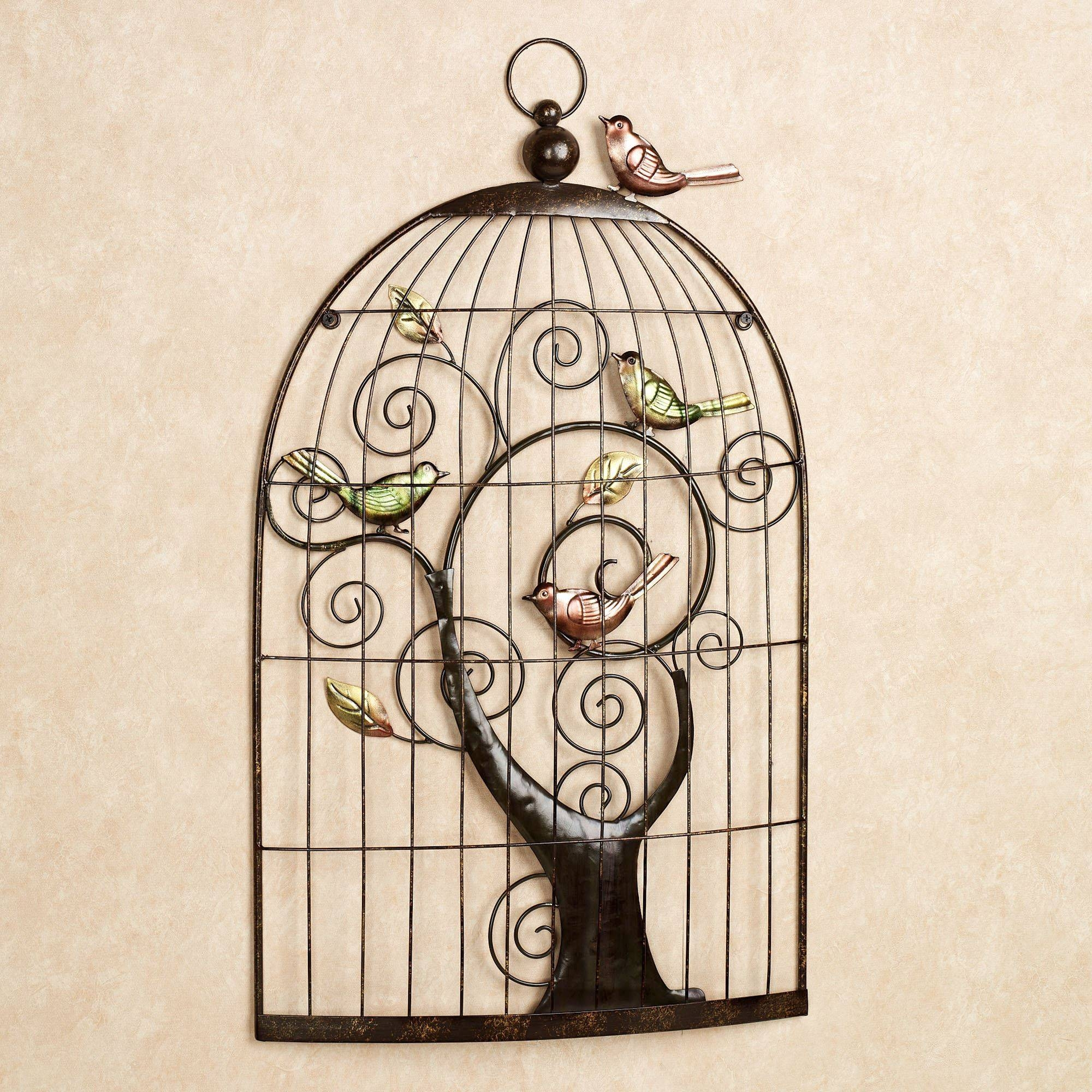 Enchanting Sonnet Birdcage Metal Wall Art With 2017 Metal Birdcage Wall Art (Gallery 3 of 15)