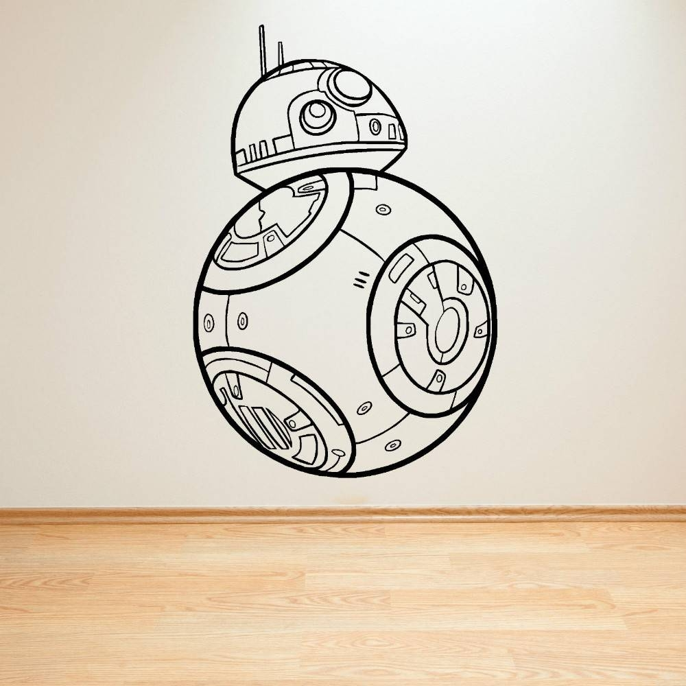 Encouraging Star Wars Bb Droid Force Awakens Vinyl Wall Artsticker Throughout Most Popular Lego Star Wars Wall Art (View 7 of 20)