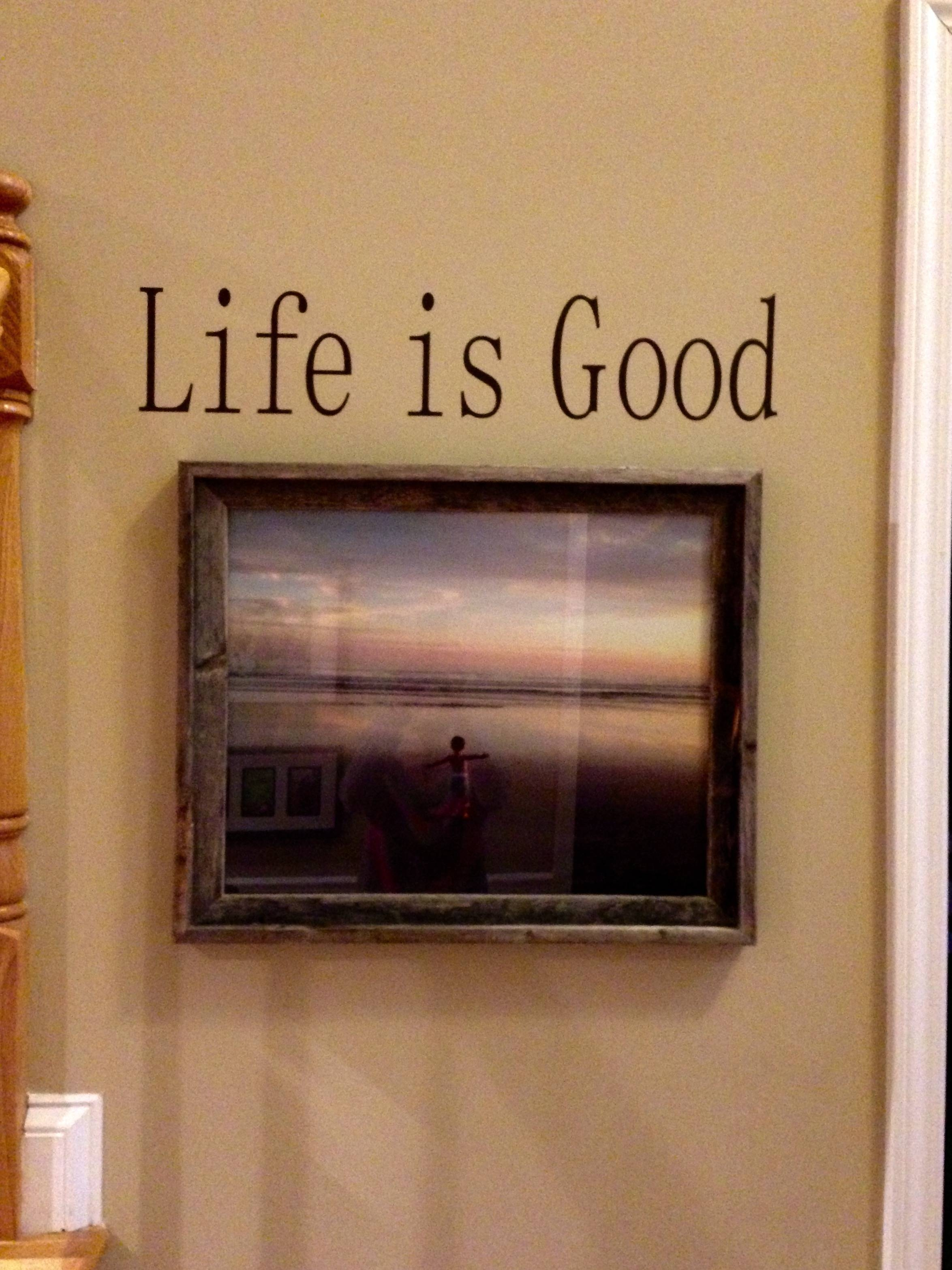 Entry Ways With Wall Lettering And Art – Expressive Walls For Newest Life Is Good Wall Art (View 7 of 30)