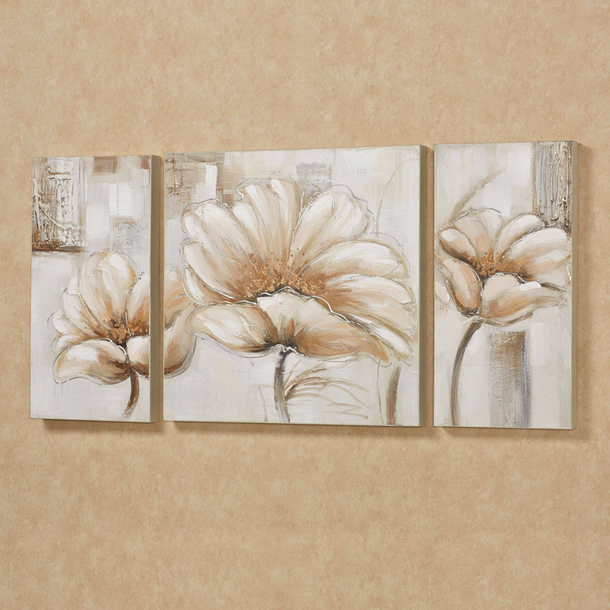 Ergonomic Wall Decor Wall Art Extraordinary Floral Floral Canvas For Current 3 Piece Floral Canvas Wall Art (Gallery 13 of 20)