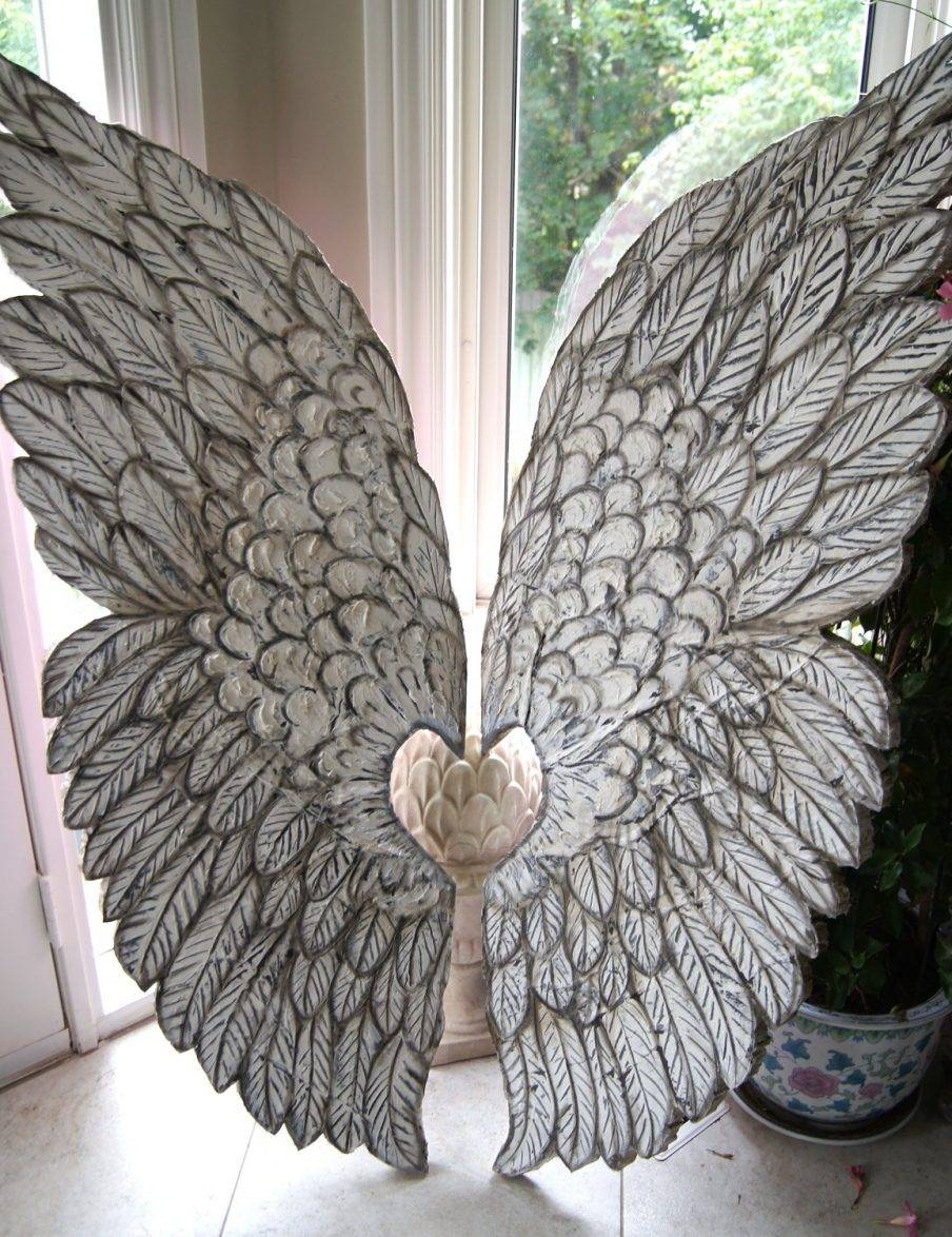 Ergonomic Wall Design Angel Wings Wall Art Wooden Angel Wings Wall With Regard To Latest Angel Wings Sculpture Plaque Wall Art (View 1 of 20)