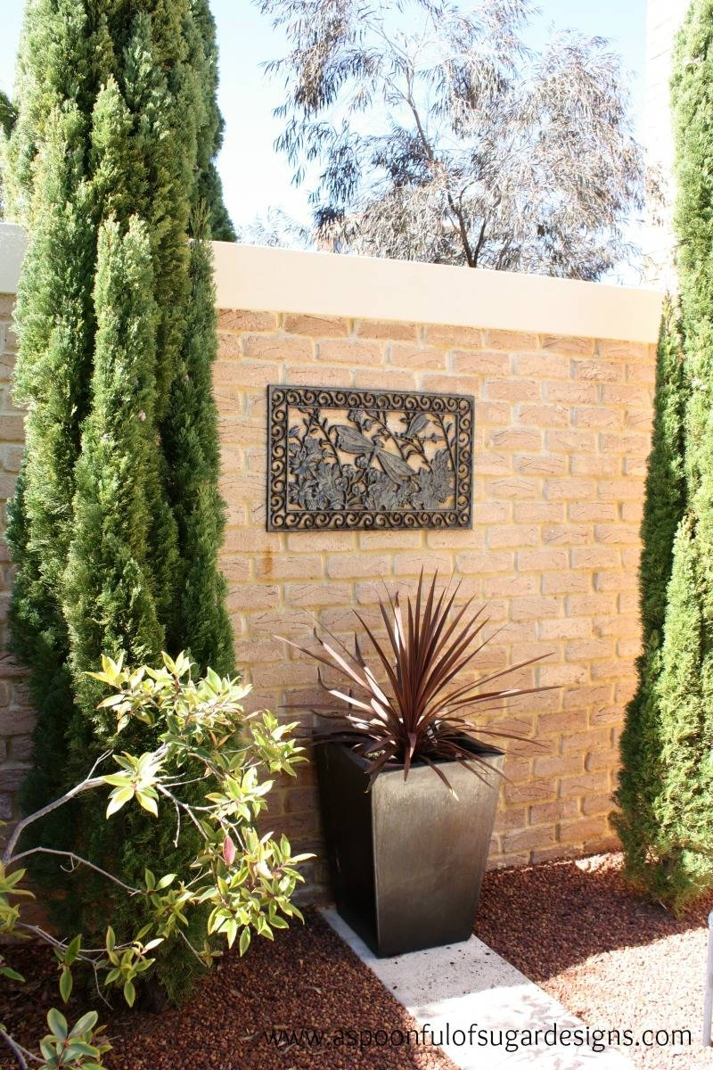 Essential Tips For Perfect Outdoor Space With Garden Wall Art With Newest Garden Wall Art (View 12 of 30)