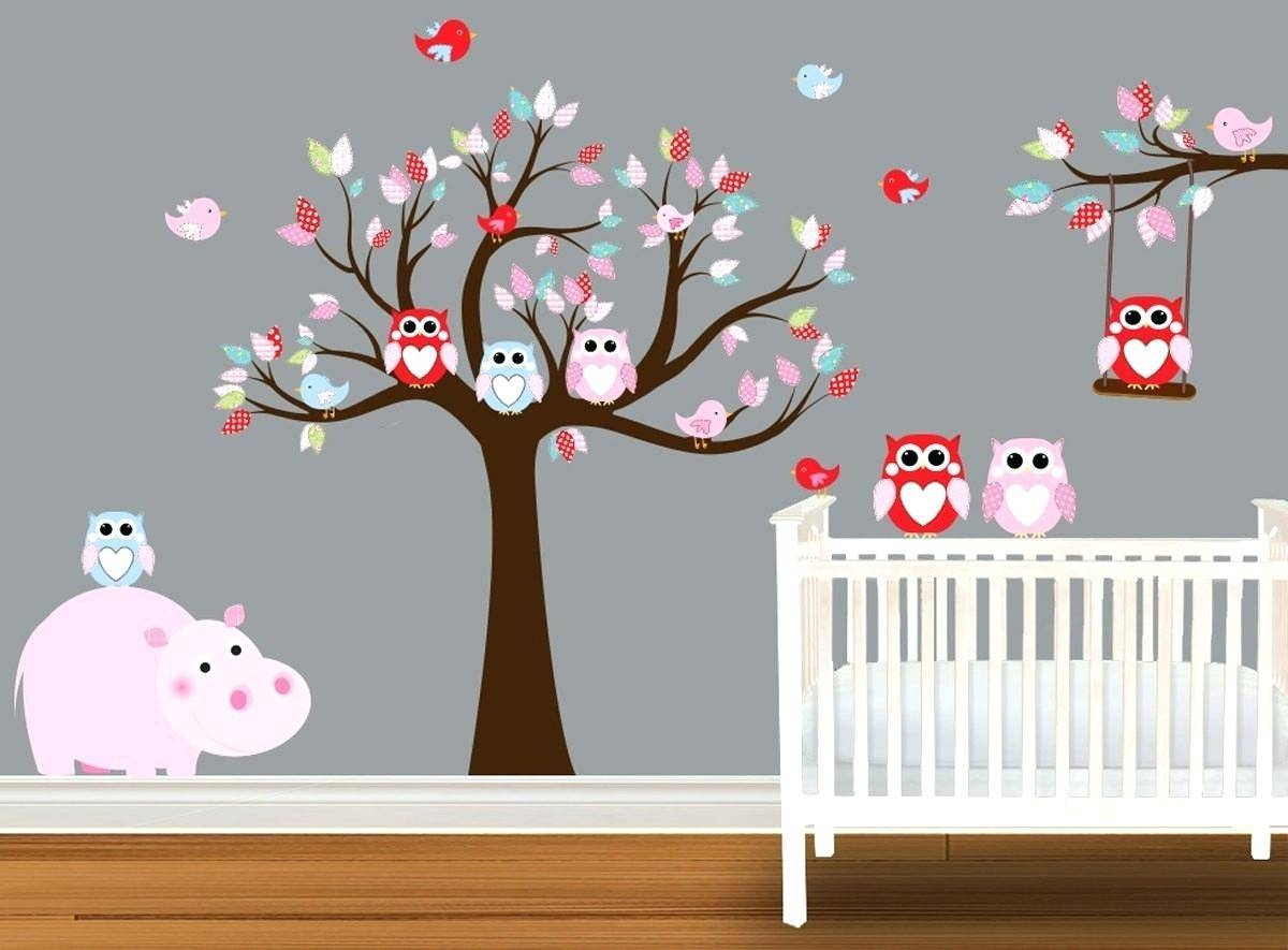 Etsy Owl Wall Decal Baby Boy Nursery Art Print Nursery Wall Art With Newest Etsy Childrens Wall Art (View 8 of 20)