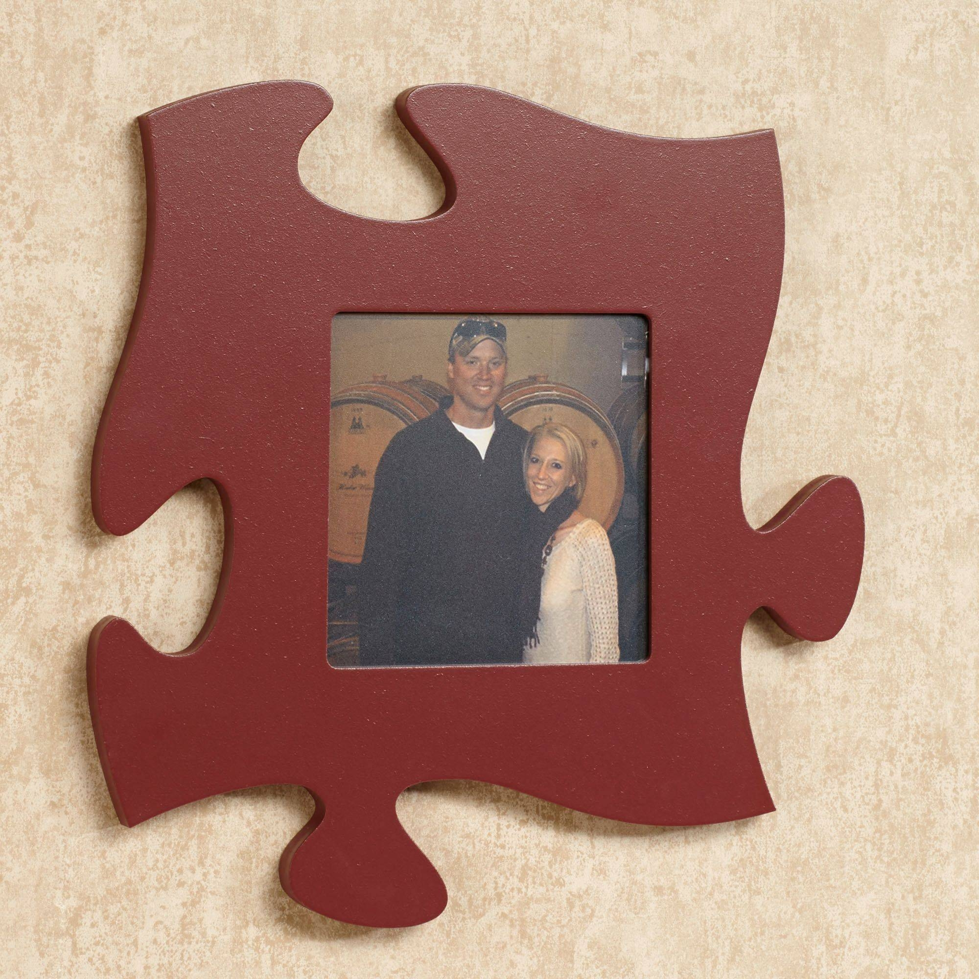 Every Family Photo Frame Puzzle Piece Wall Art Within 2017 Burgundy Wall Art (View 9 of 15)