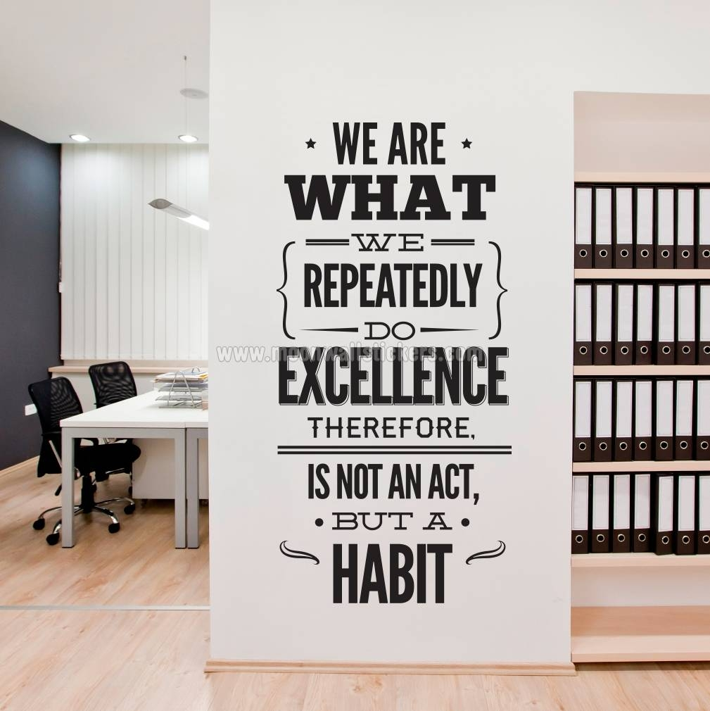 Excellence Office Decor Wall Sticker – Moonwallstickers With Most Recent Inspirational Wall Decals For Office (View 3 of 20)