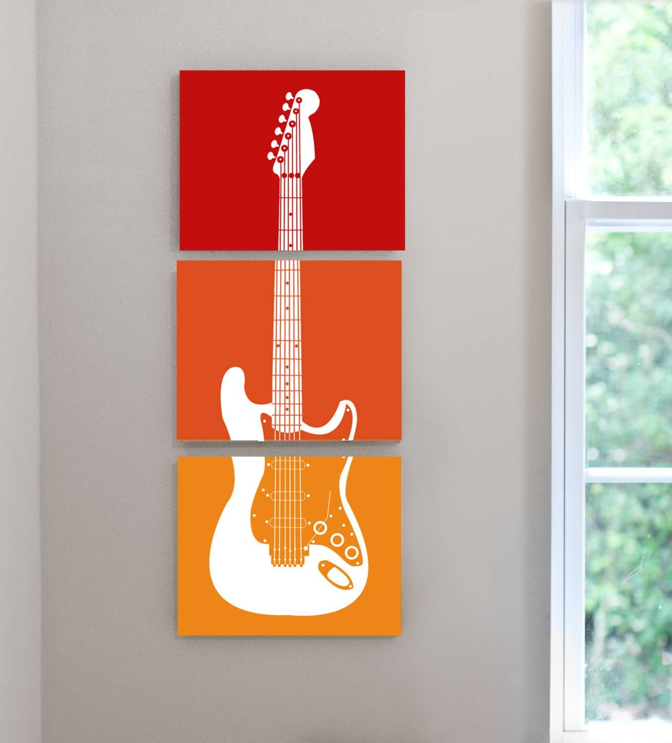 Excellent Ideas Guitar Wall Decor Absolutely Design Acoustic Throughout Recent Music Theme Art Gallery