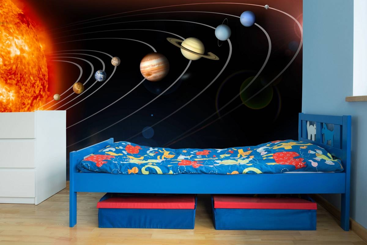 Exploring Our Solar System Wall Mural Pertaining To Recent Solar System Wall Art (View 9 of 25)