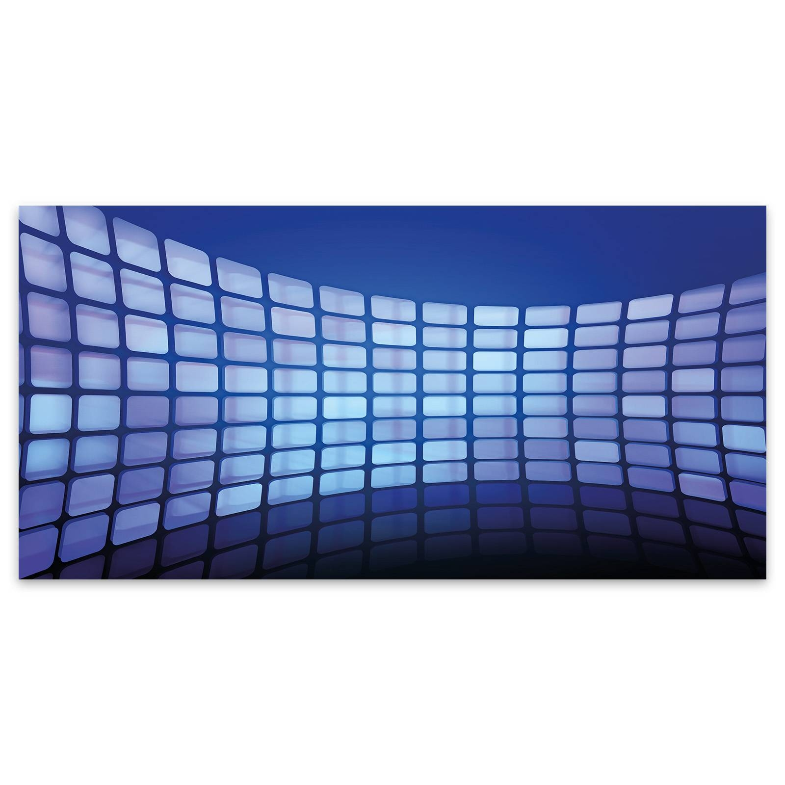 Extra Large Abstract 3D Blue Shiny Blocks Acrylic Glass Wall Art Throughout 2018 3D Glass Wall Art (View 13 of 20)
