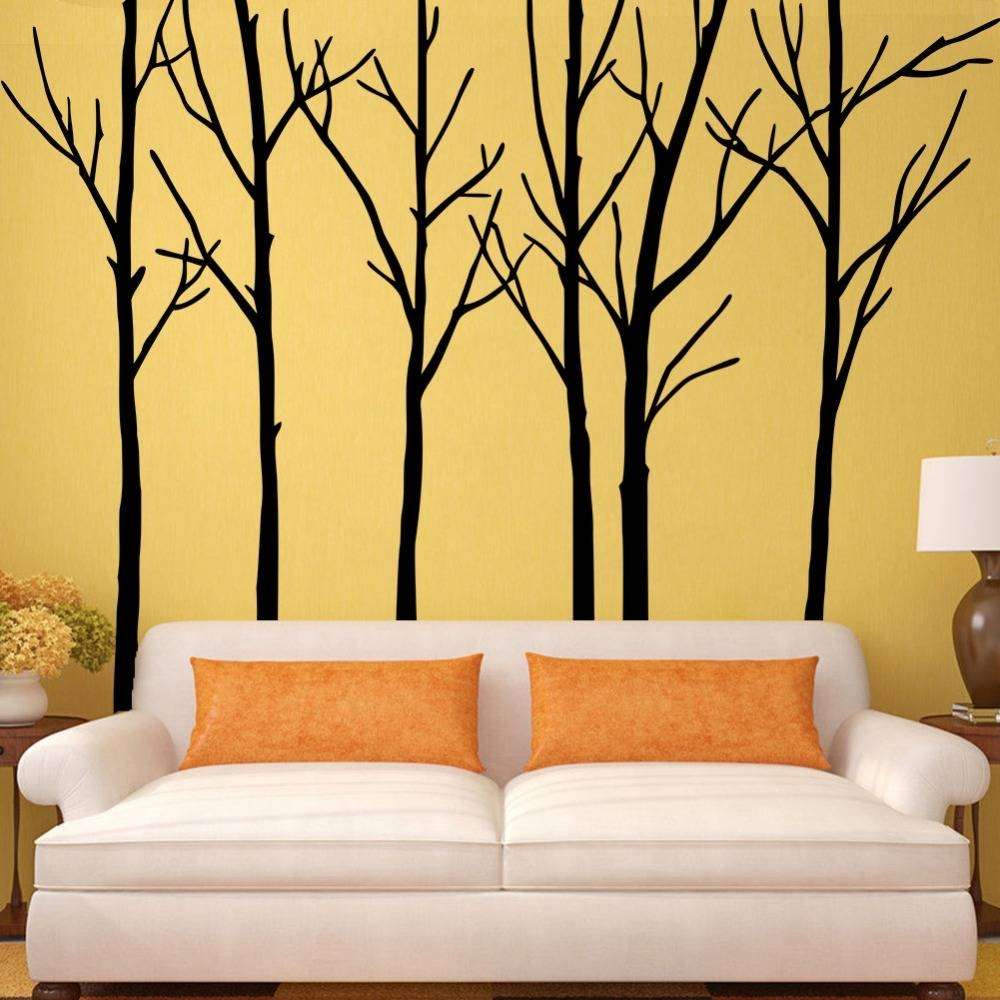 Extra Large Black Tree Branches Wall Art Mural Decor Sticker Pertaining To 2017 Tree Branch Wall Art (Gallery 9 of 20)