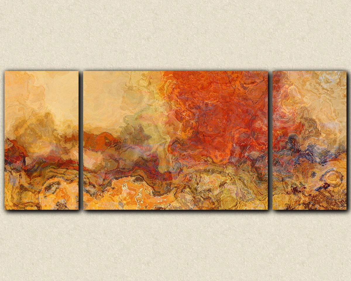 Extra Large Triptych Abstract Art 30X72 To 40X90 Giclee Inside Recent Large Triptych Wall Art (Gallery 6 of 20)