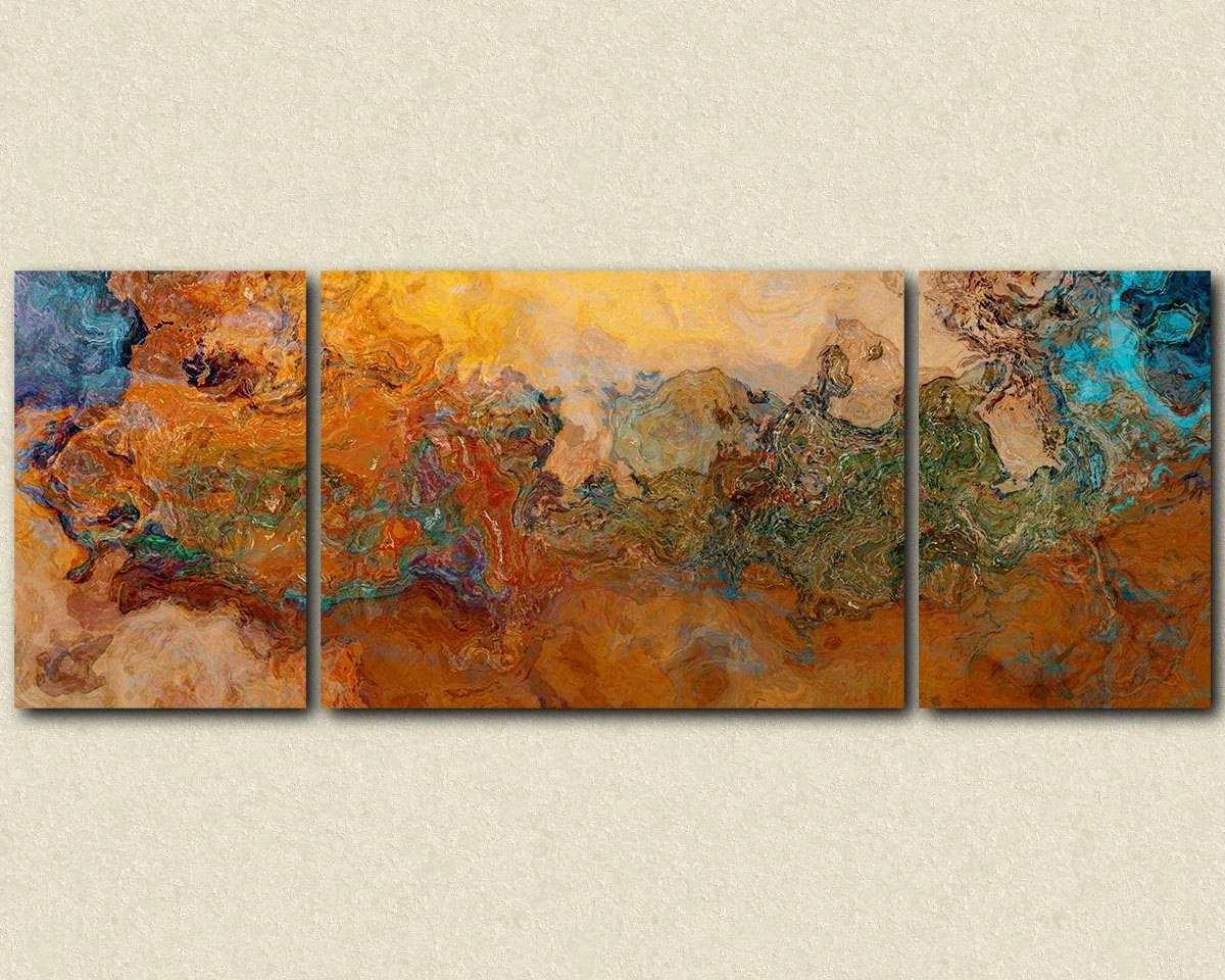 Extra Large Triptych Abstract Art Canvas Print 30X80 To Regarding Recent Matching Canvas Wall Art (View 11 of 20)