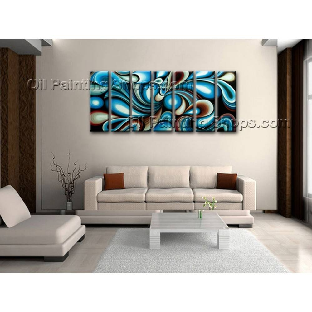 Extra Large Wall Art Colorful Abstract Oil Painting On Canvas Pertaining To Best And Newest Extra Large Framed Wall Art (View 5 of 20)