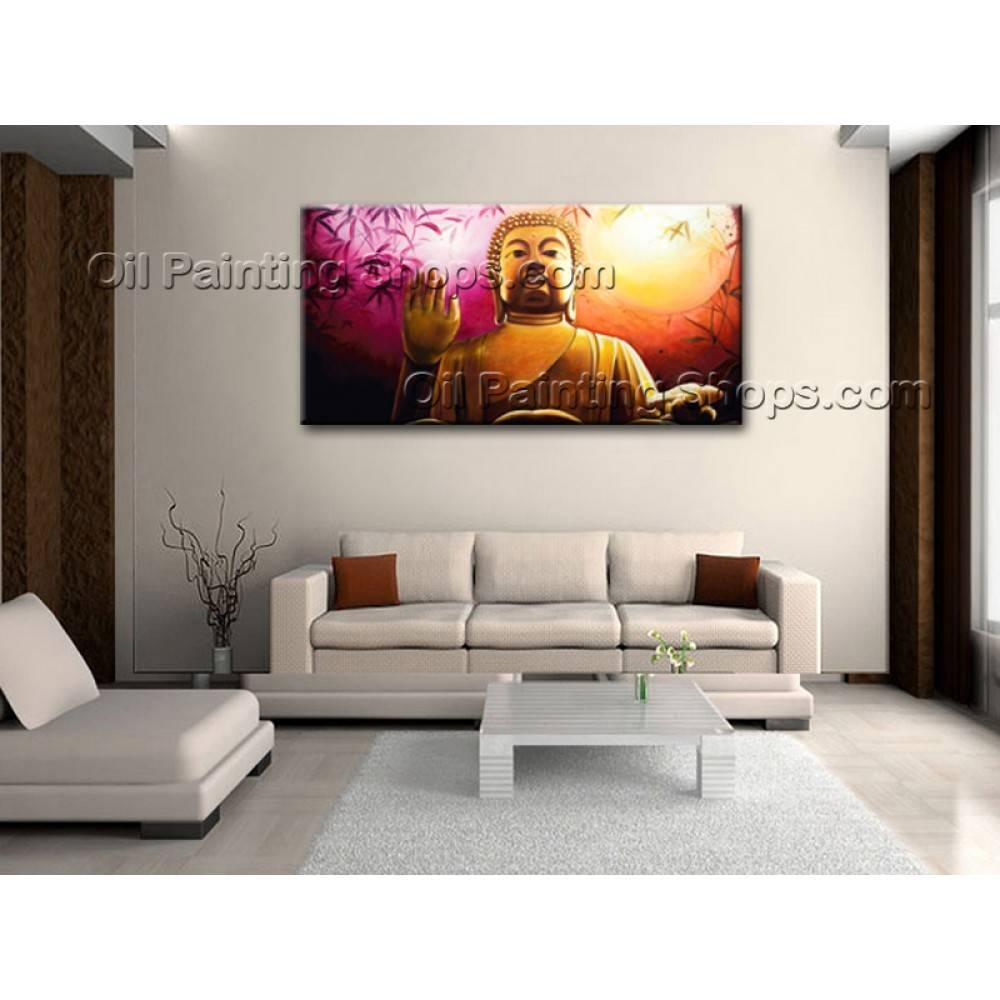 Extra Large Wall Art Feng Shui Original Abstract Buddha Oil In Most Popular Feng Shui Wall Art (View 8 of 20)