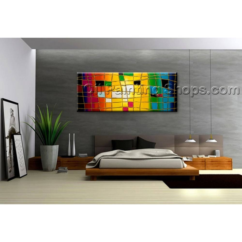 Extra Large Wall Art Hand Painted Abstract Oil Painting On Canvas With Most Recent Huge Wall Art (View 4 of 20)