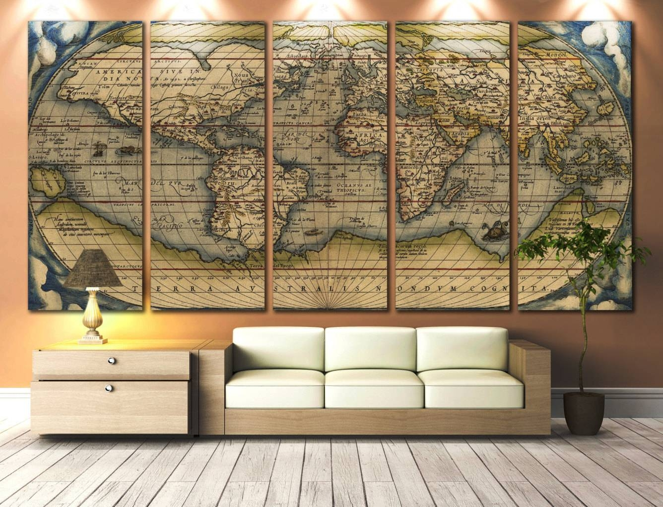 Extra Large Wall Art | Roselawnlutheran Inside Most Recent Antique Map Wall Art (Gallery 14 of 20)