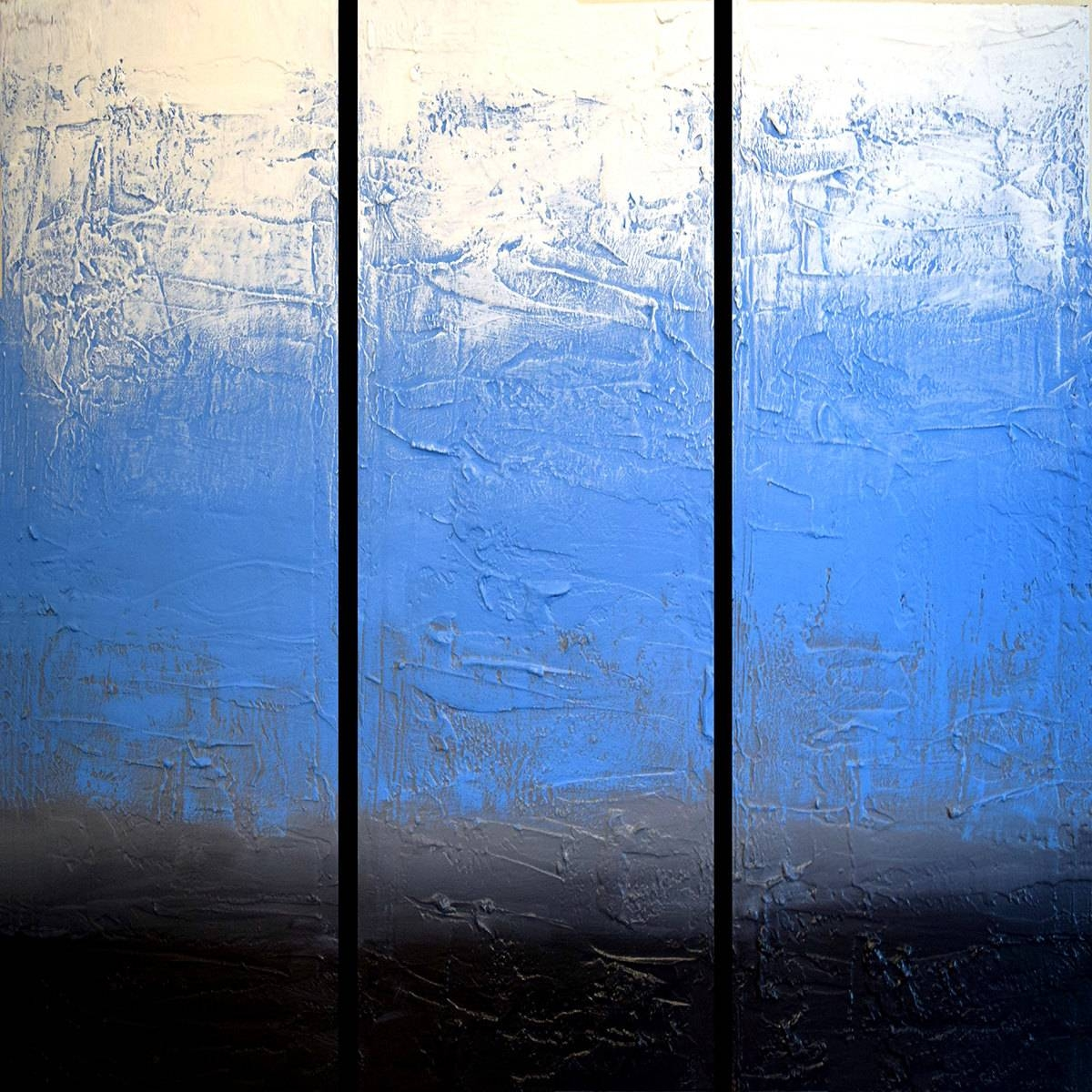 Extra Large Wall Sculpture Art Triptych 3 Panel Wall Art With Regard To Best And Newest Large Triptych Wall Art (View 12 of 20)