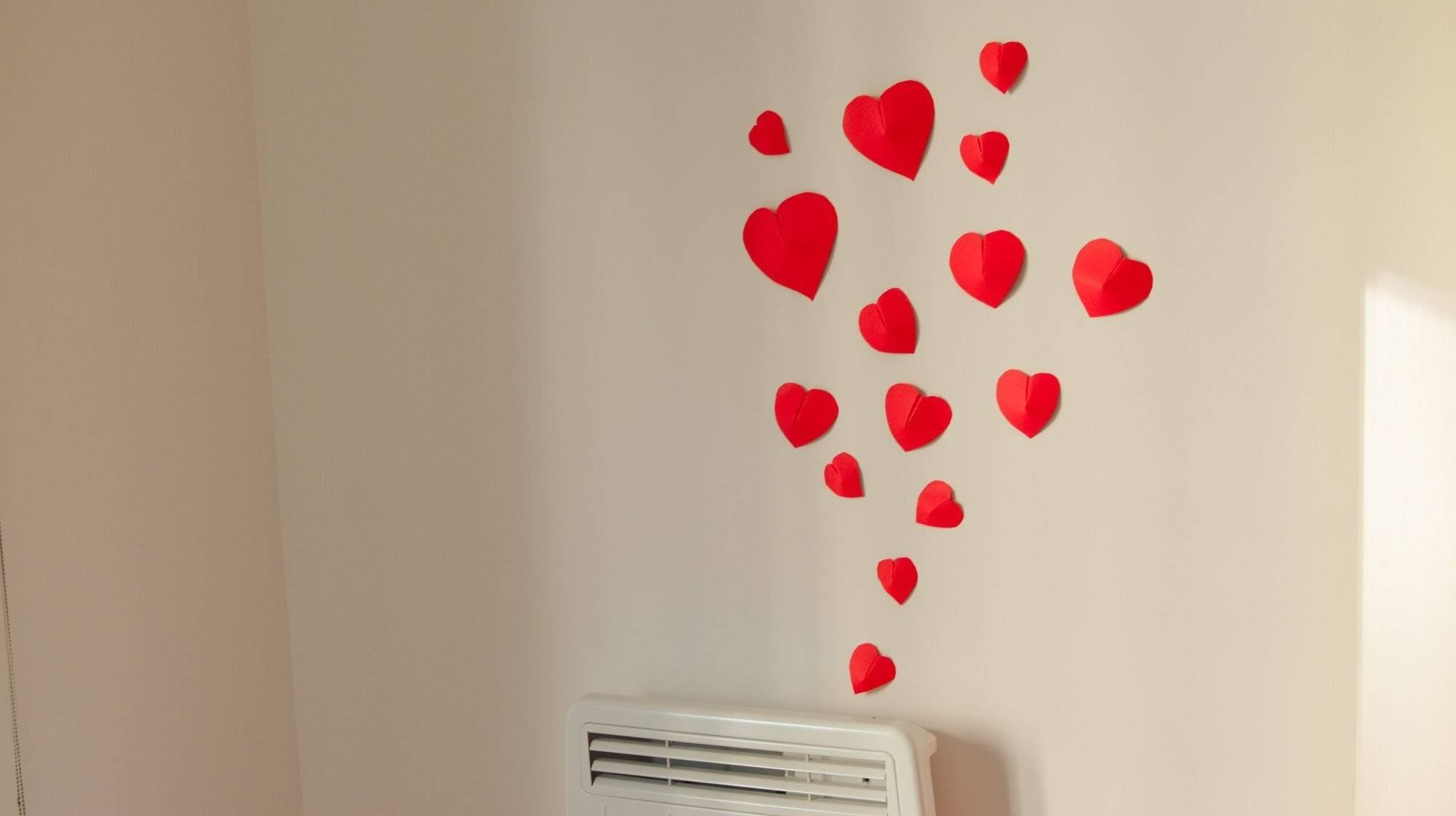 Extremely Creative Heart Shaped Wall Decor Simple Design Cool Throughout Most Current Heart 3D Wall Art (Gallery 3 of 20)