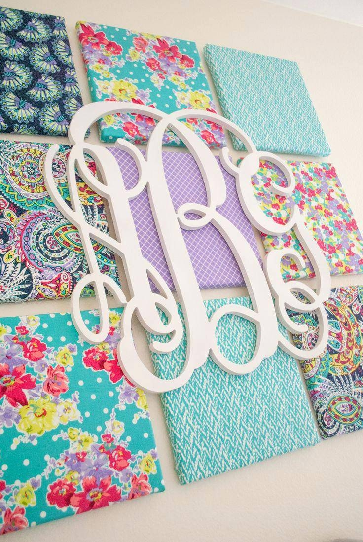 Fabric Canvas And Monogram Wall Art Adorable Look In A Nursery Or Throughout 2018 Groupon Wall Art (View 7 of 20)