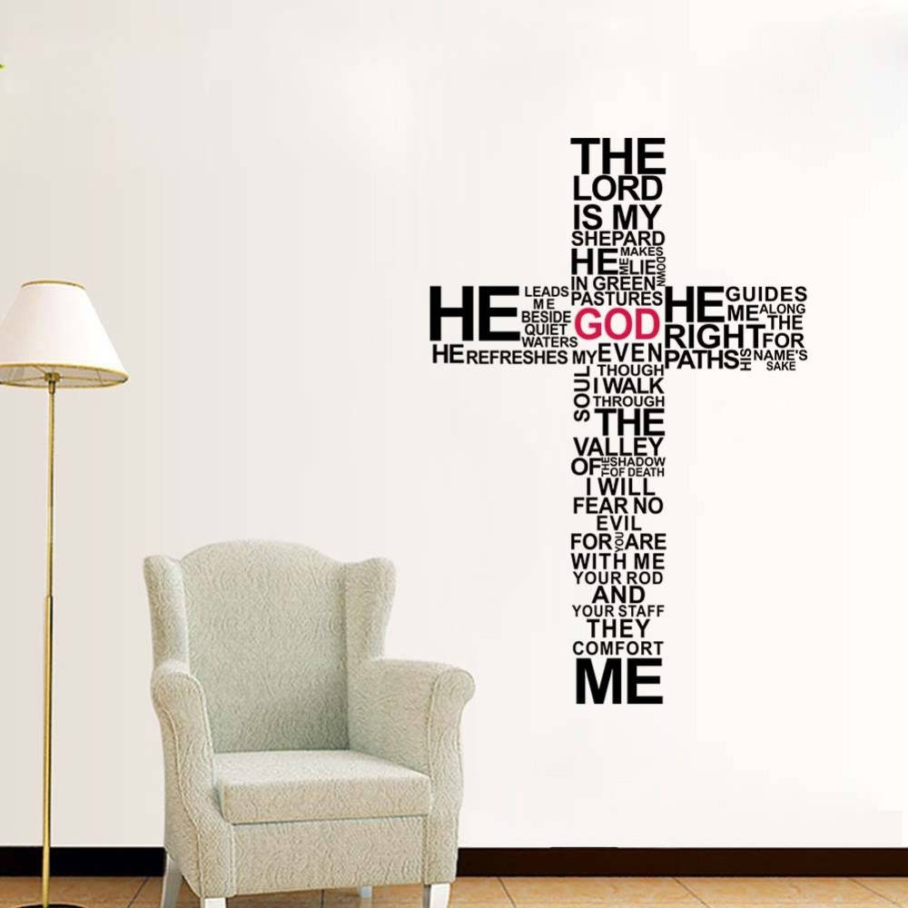 Factory Price Cartoon Typography Christian God Cross Wall Art Regarding Best And Newest Large Christian Wall Art (View 16 of 25)