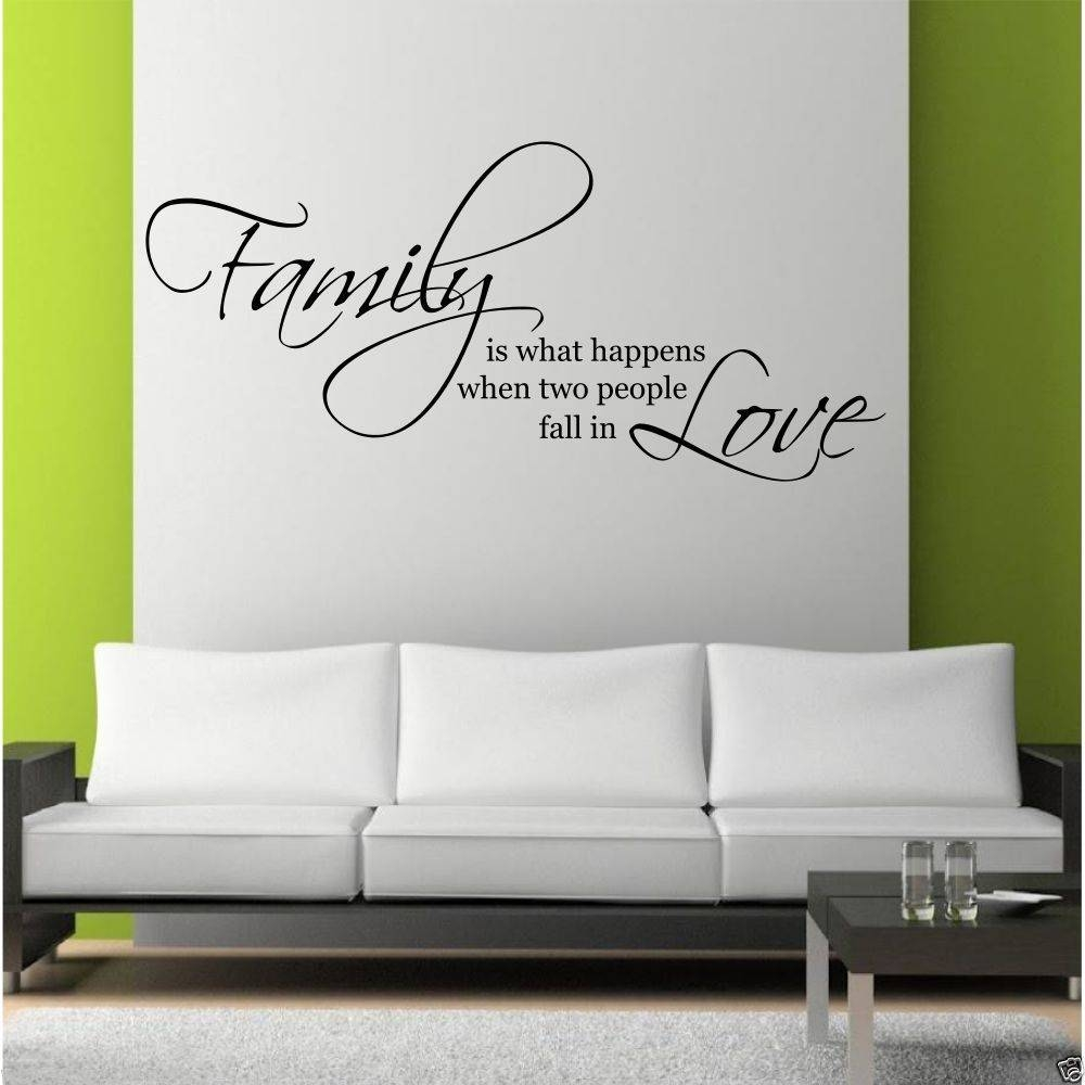 Family Love Wall Art Sticker Quote Living Room Decal Mural Stencil With Regard To 2018 Love Wall Art (Gallery 2 of 20)