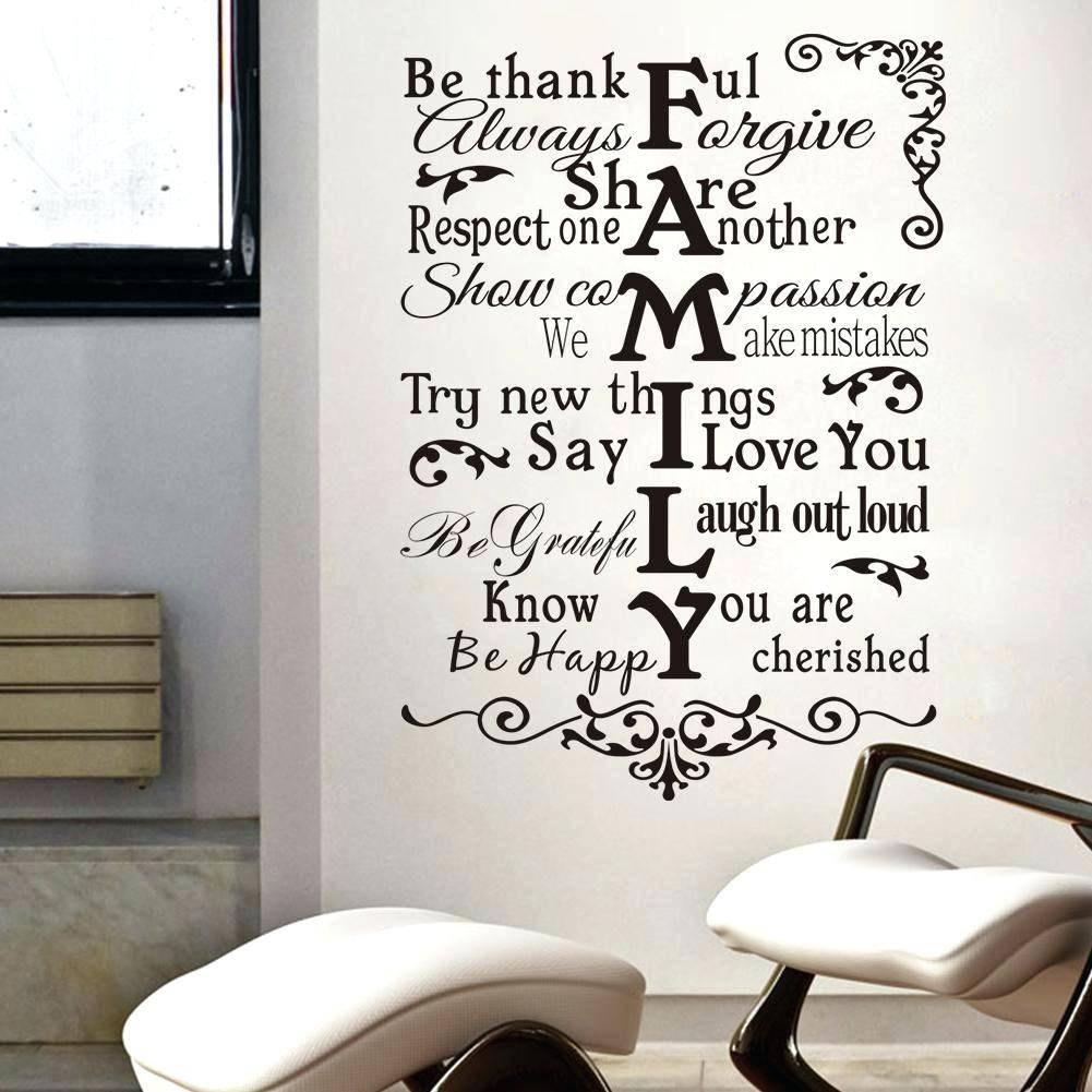 Family Saying Wall Decals Family Quote Wall Art Our Family Quotes Inside Current Large Inspirational Wall Art (View 14 of 20)