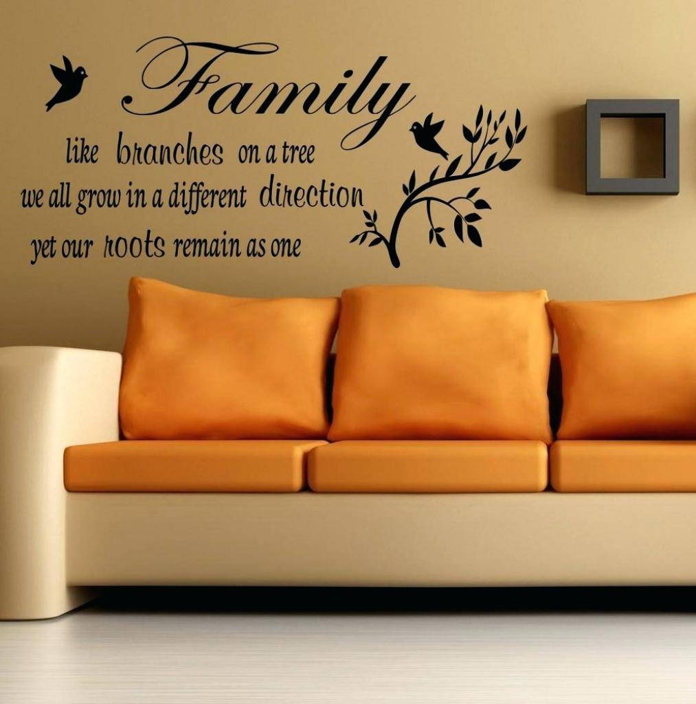 Family Saying Wall Decals Family Quote Wall Art Our Family Quotes Within Most Recently Released Inspirational Sayings Wall Art (View 8 of 30)